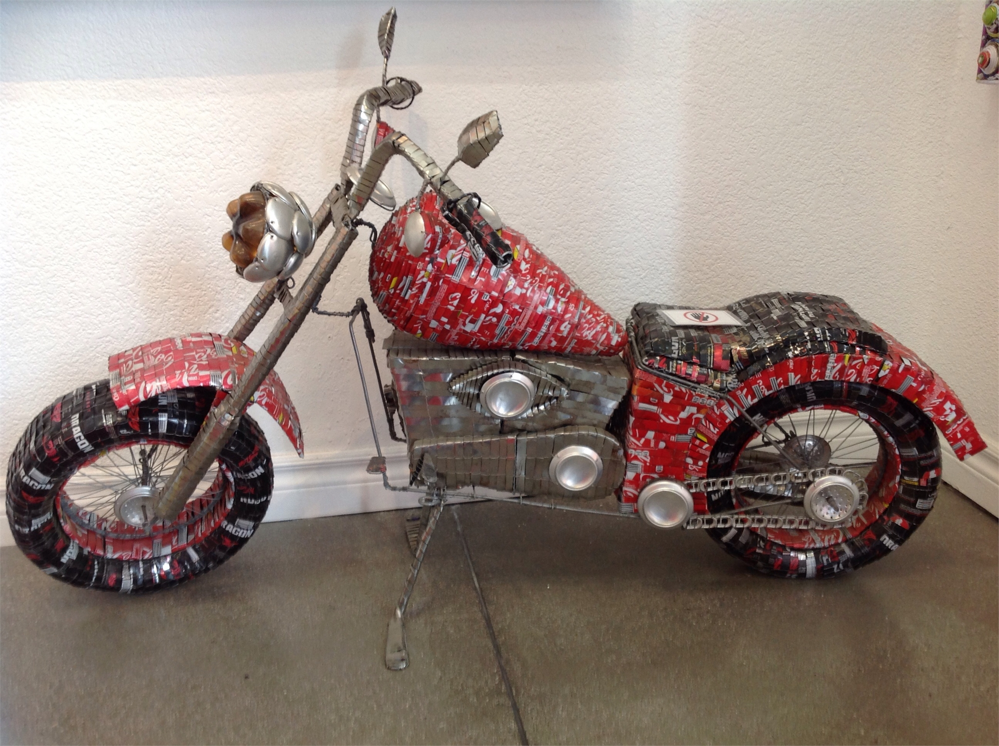Cola can Motorcycle by Stone Of Shona