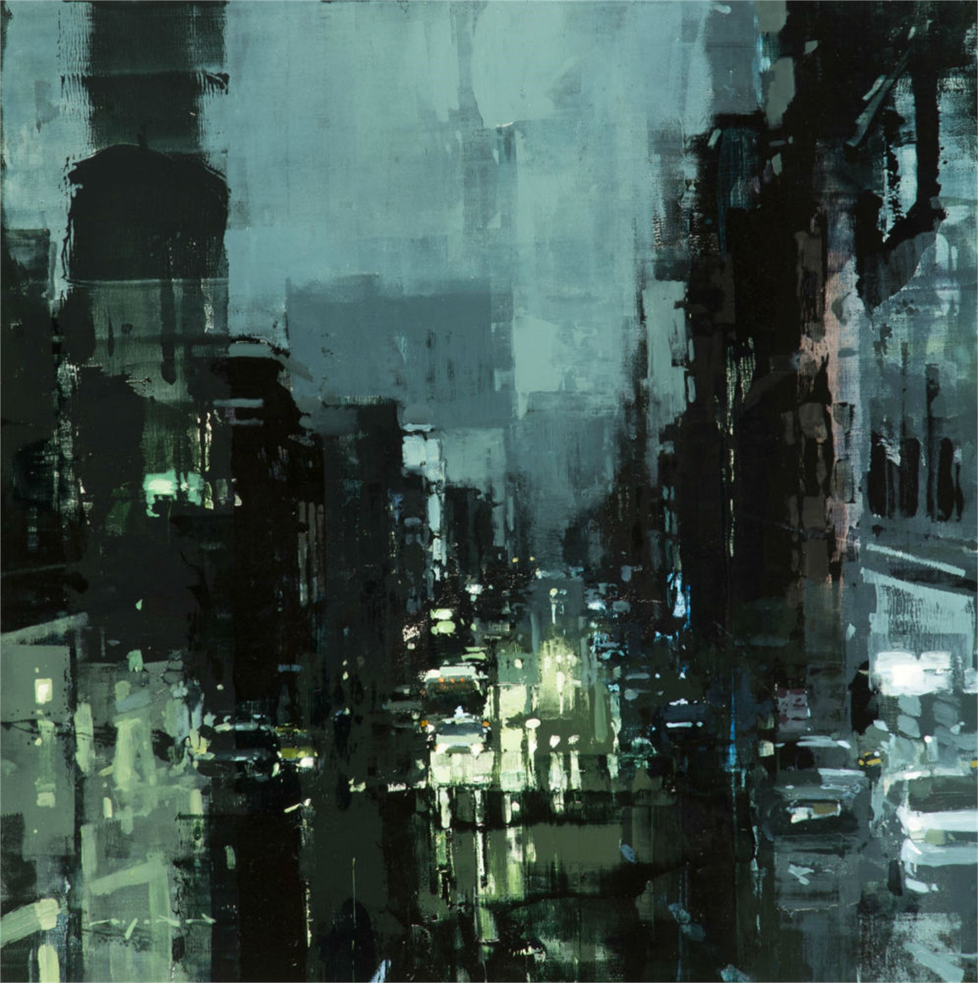 A Storm Shrouds Downtown by Jeremy Mann