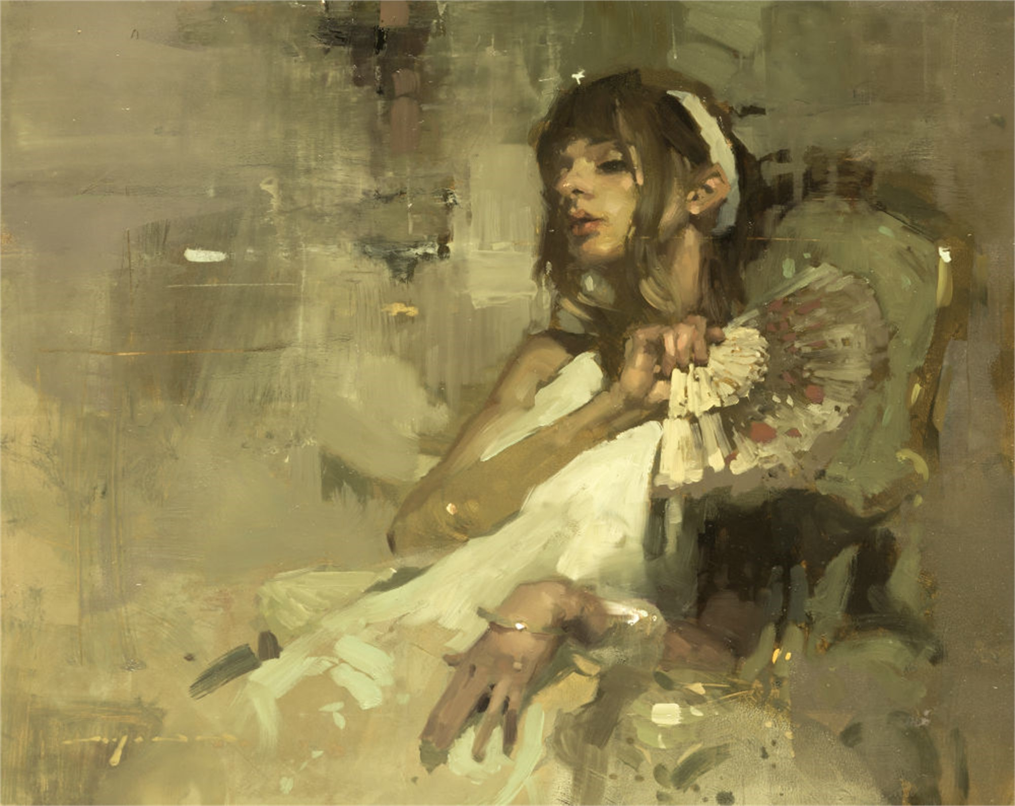 Note in Pale Yellow No. 3 by Jeremy Mann