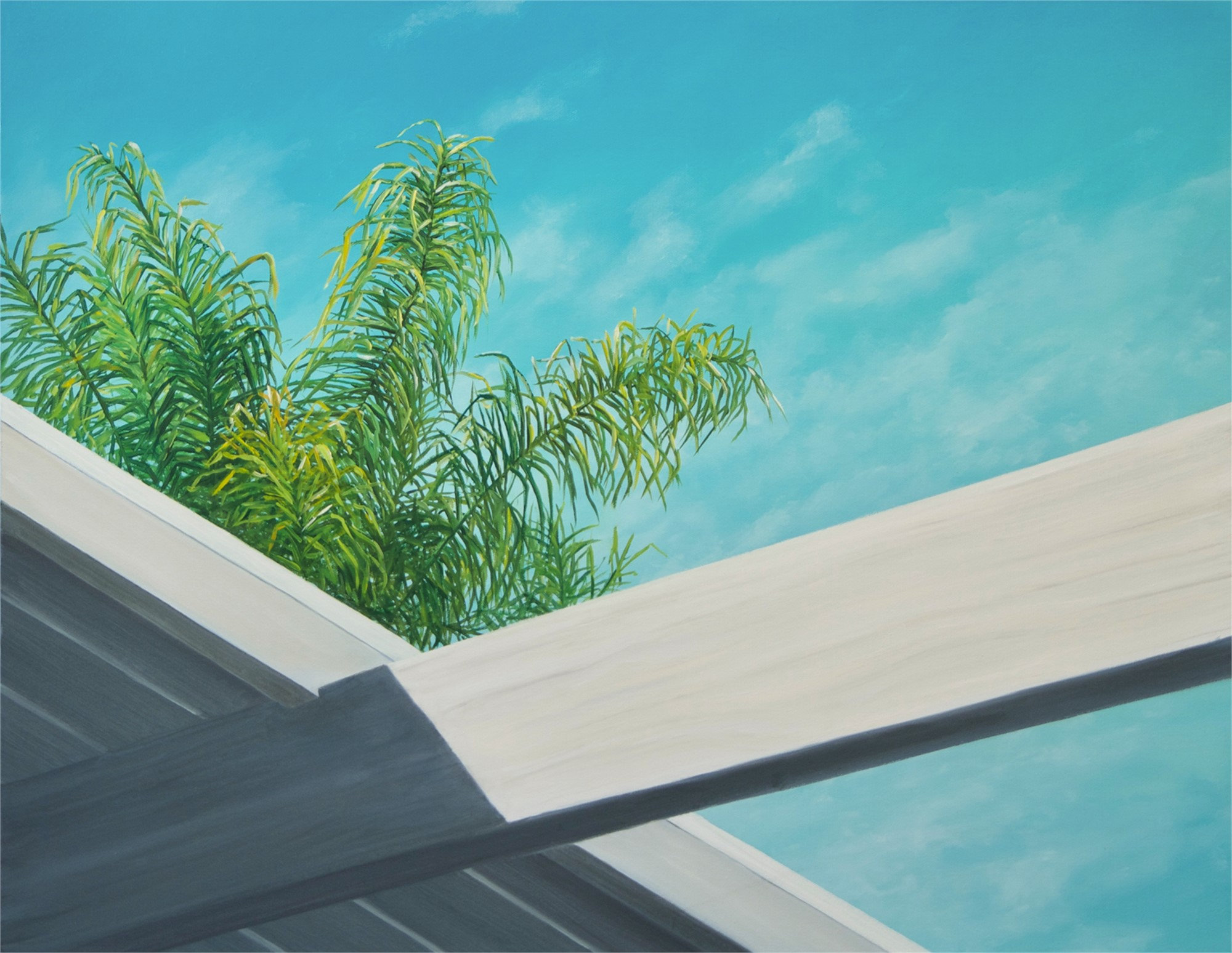 atrium with palm by Robert Bissell