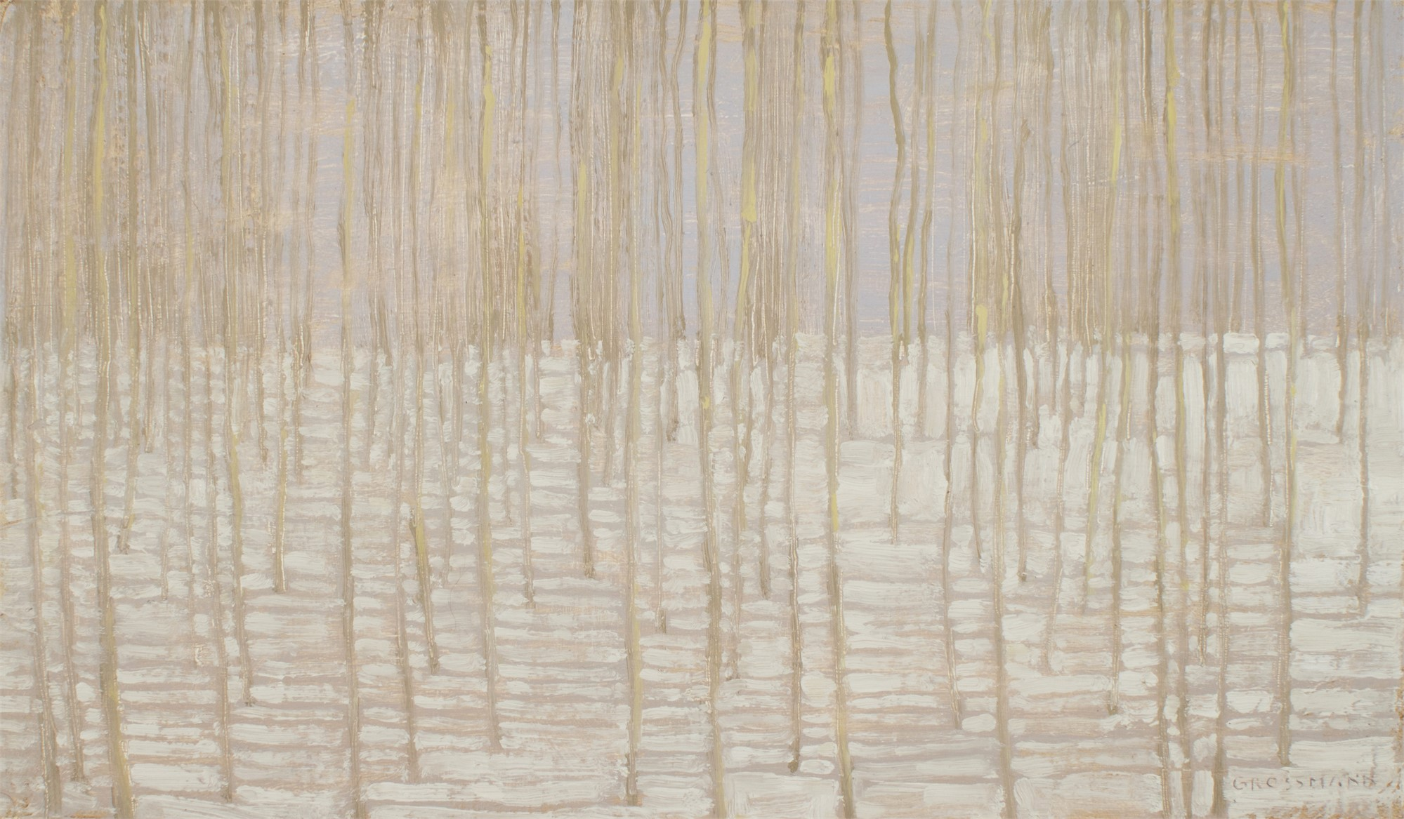 Winter Forest with Shadow Lines by David Grossmann