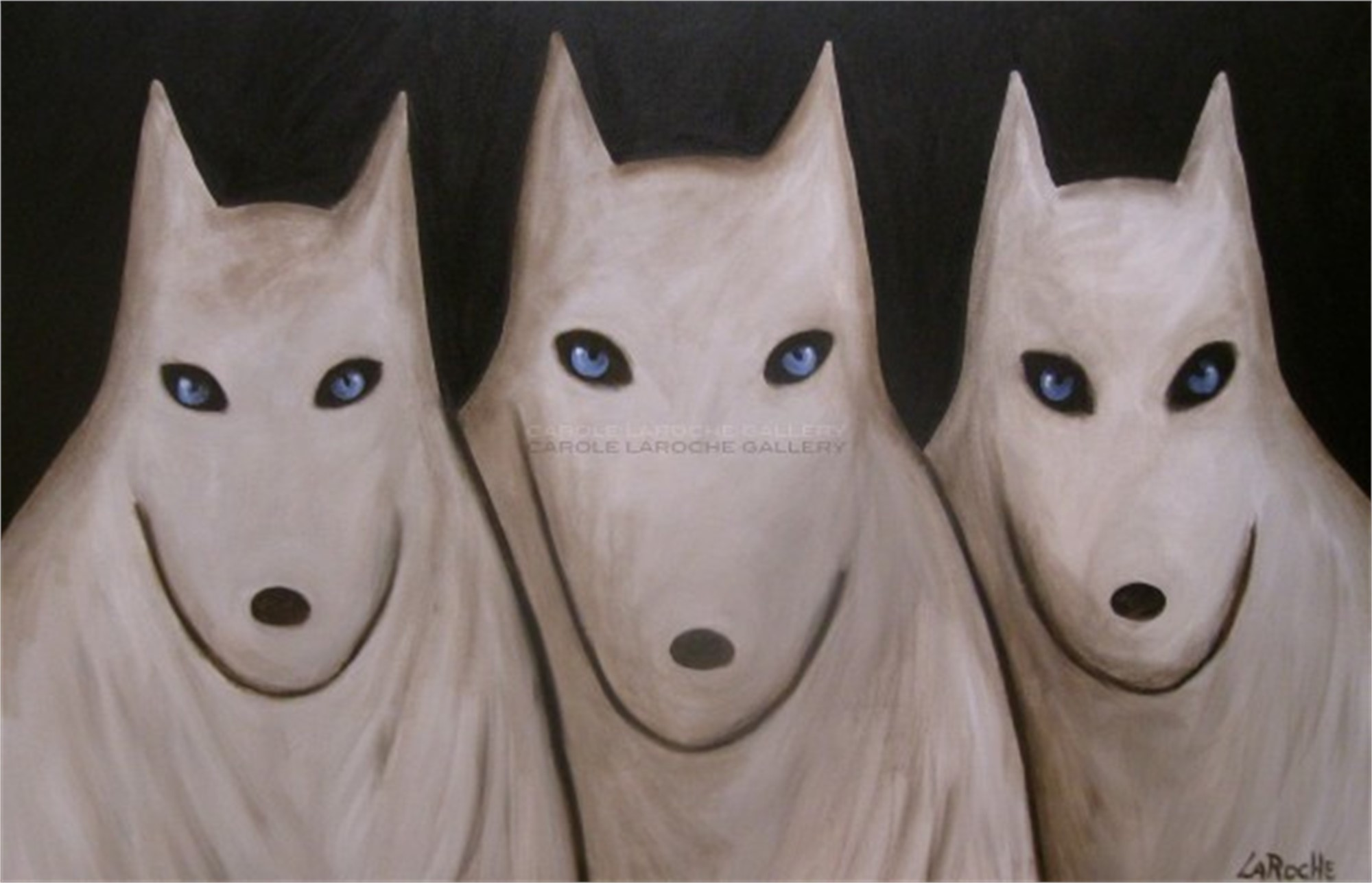 THE ARCTIC WOLVES by Carole LaRoche
