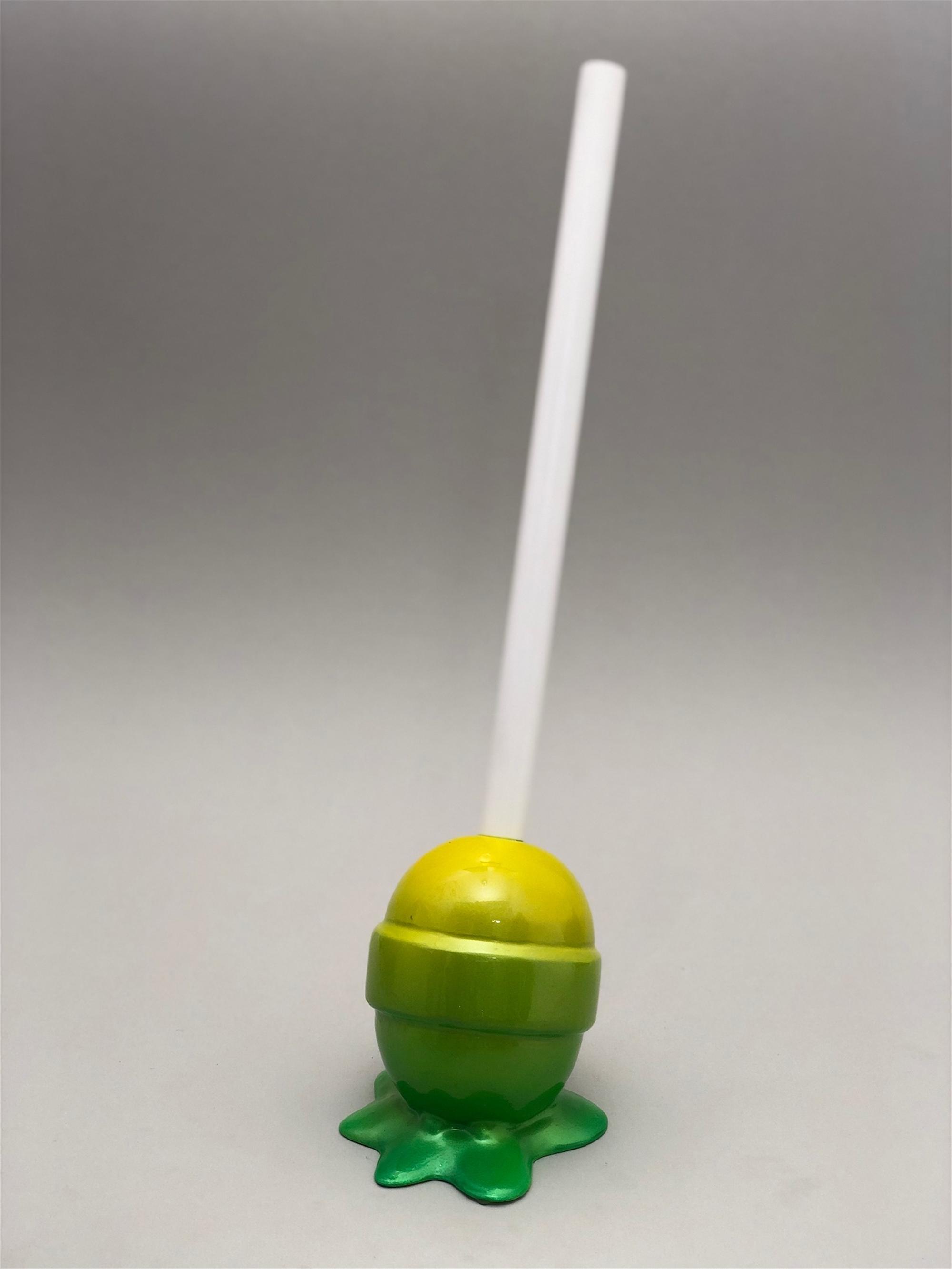 The Sweet Life, small, yellow/green ombré Lollipop by Elena Bulatova