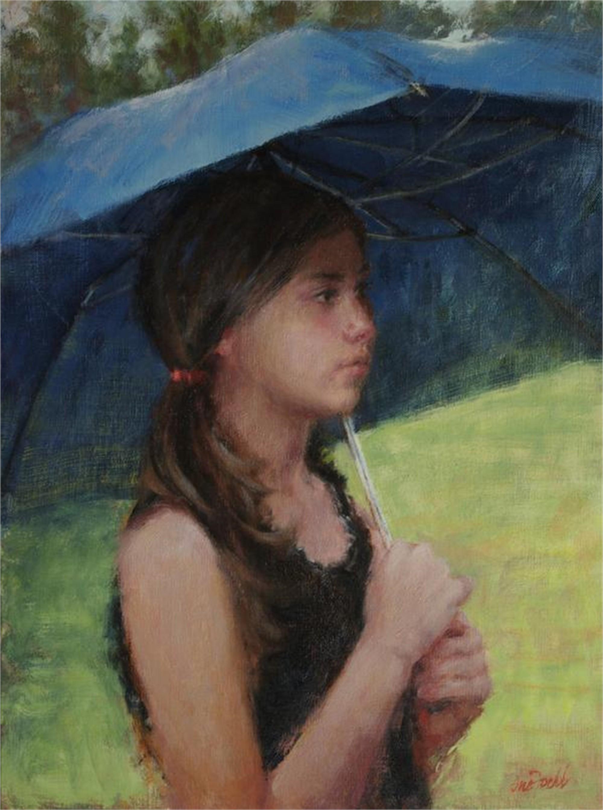 Blue Umbrella by Sue Foell, OPA