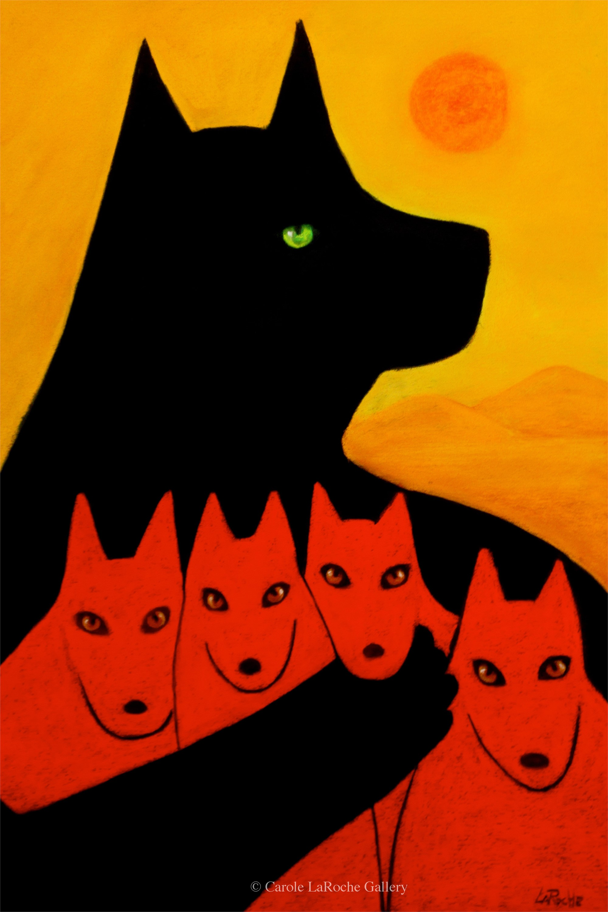 PROTECTOR WITH PUPS by Carole LaRoche
