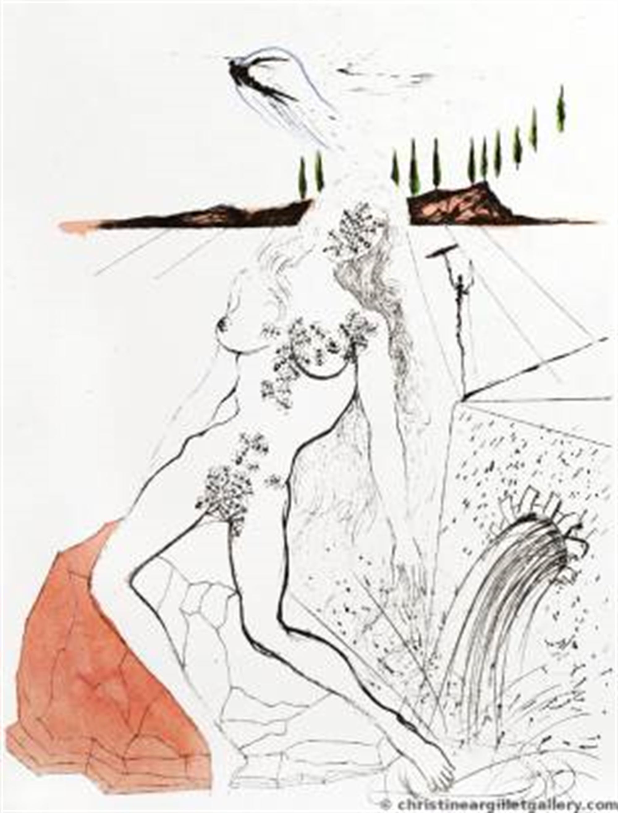 "Apollinaire ""Woman at the Fountain"" by Salvador Dali"
