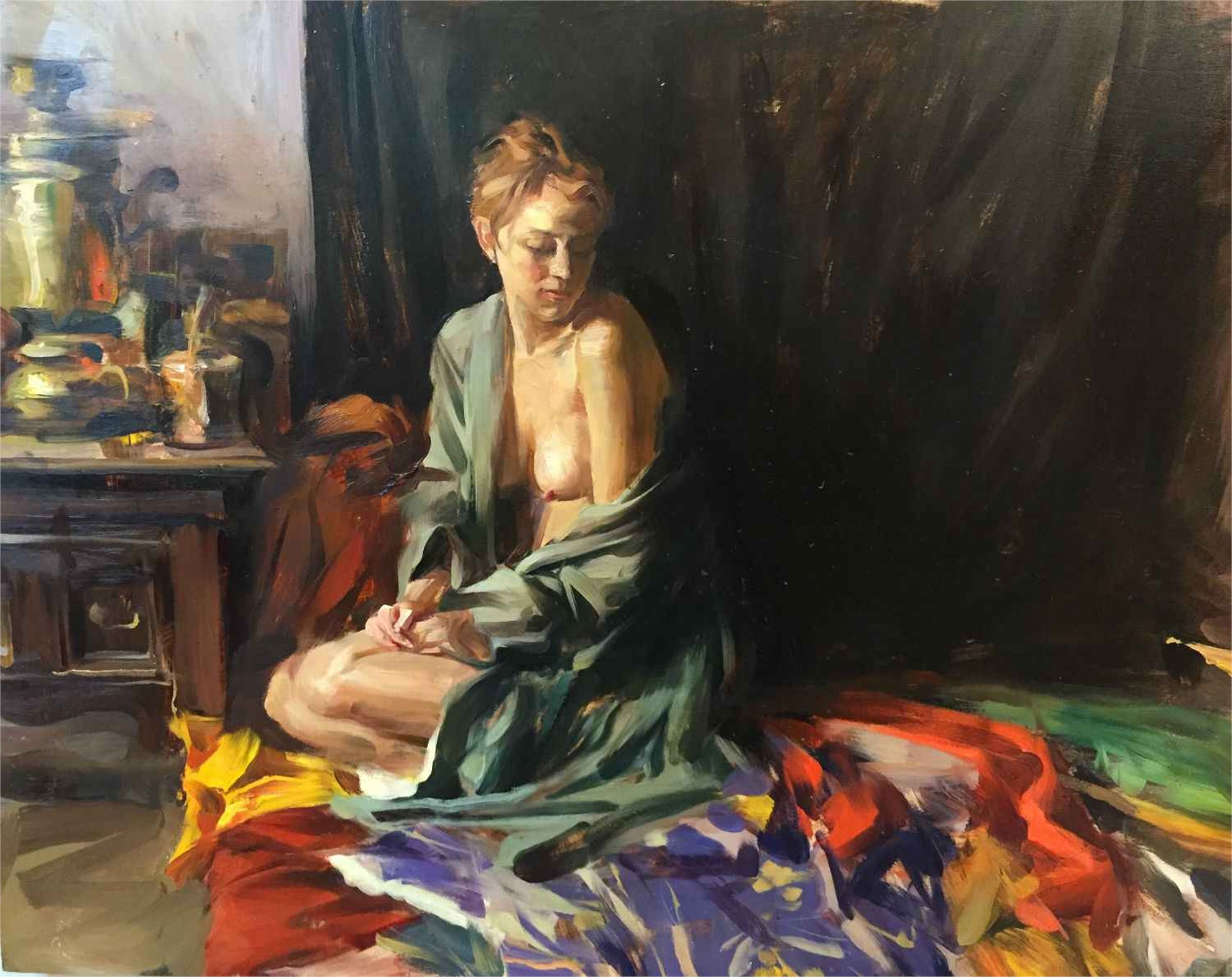 Figure with Silk Kimono by Quang Ho