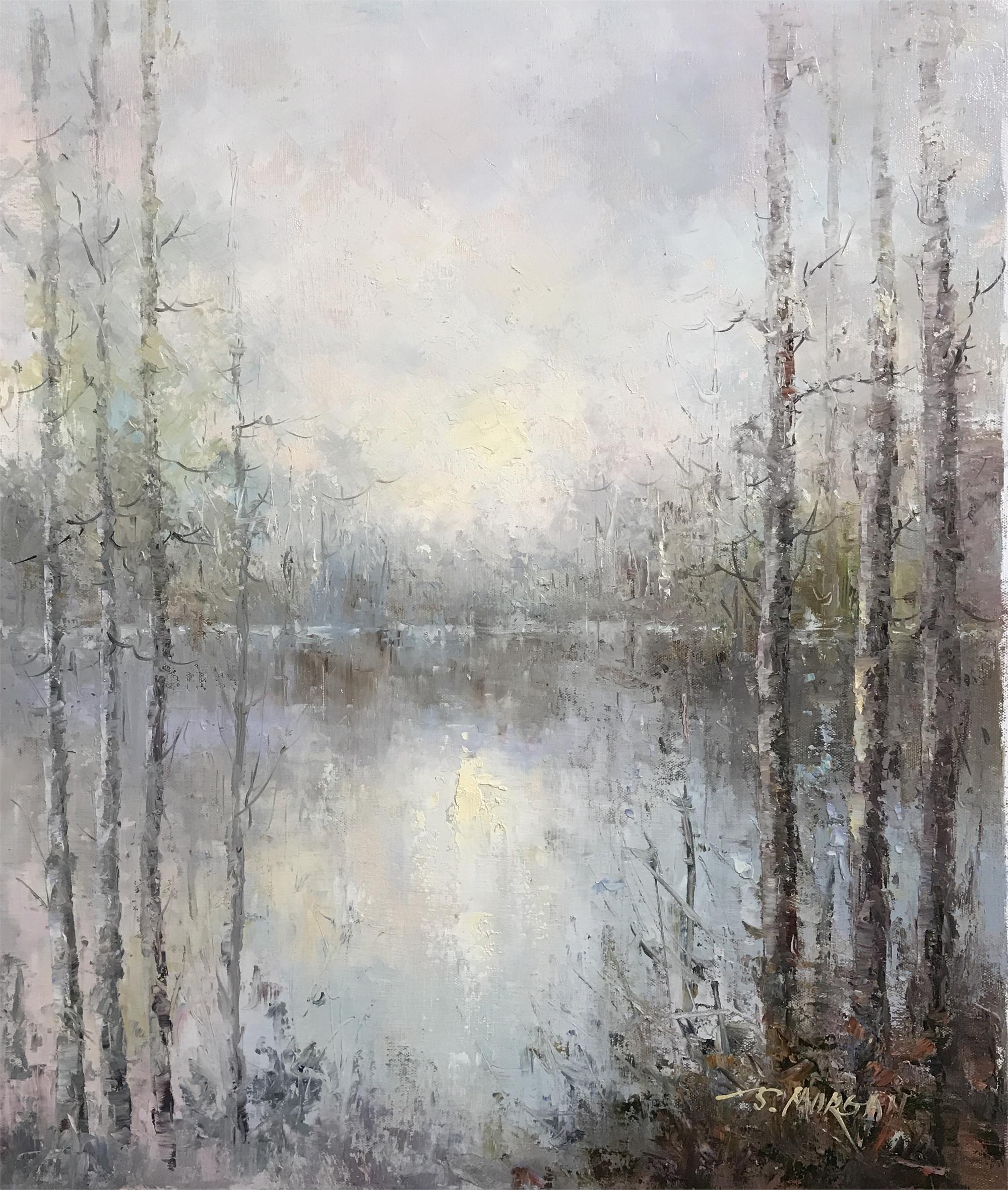 COOL WATER BETWEEN TREES by J. MORGAN