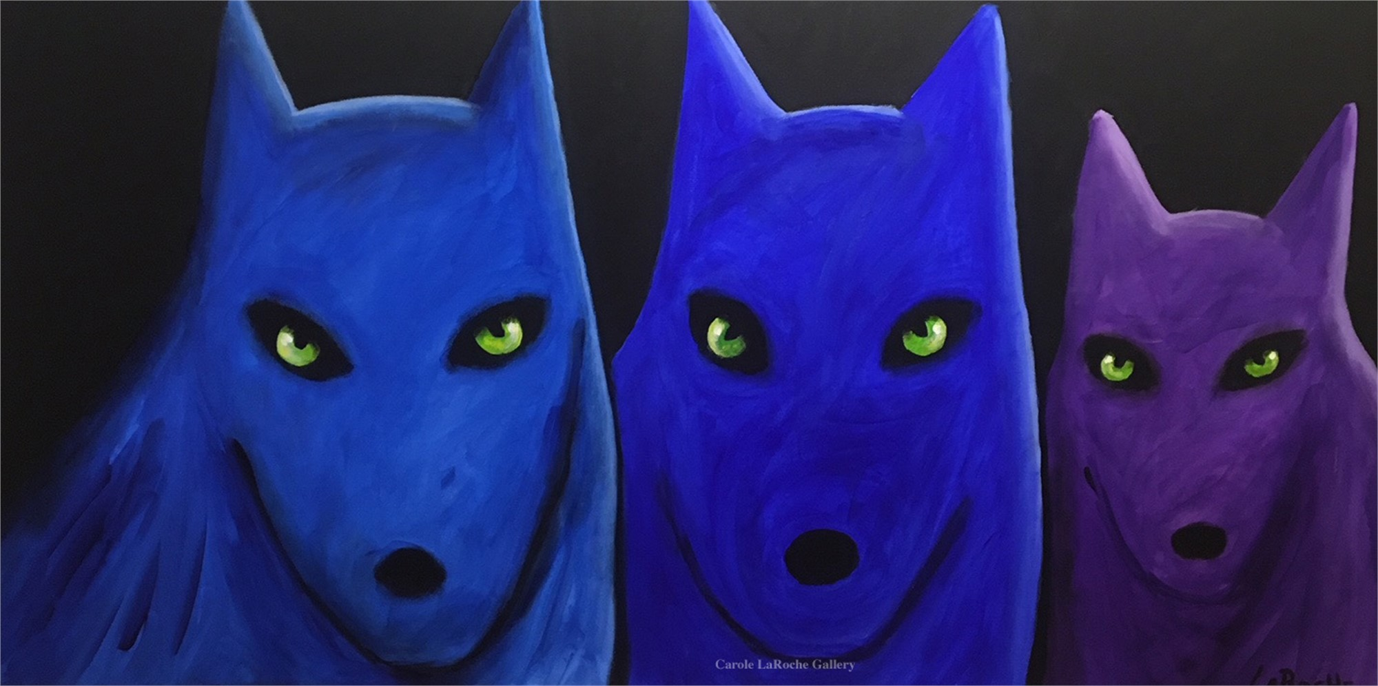 PURPLE AND BLUE WOLVES by Carole LaRoche