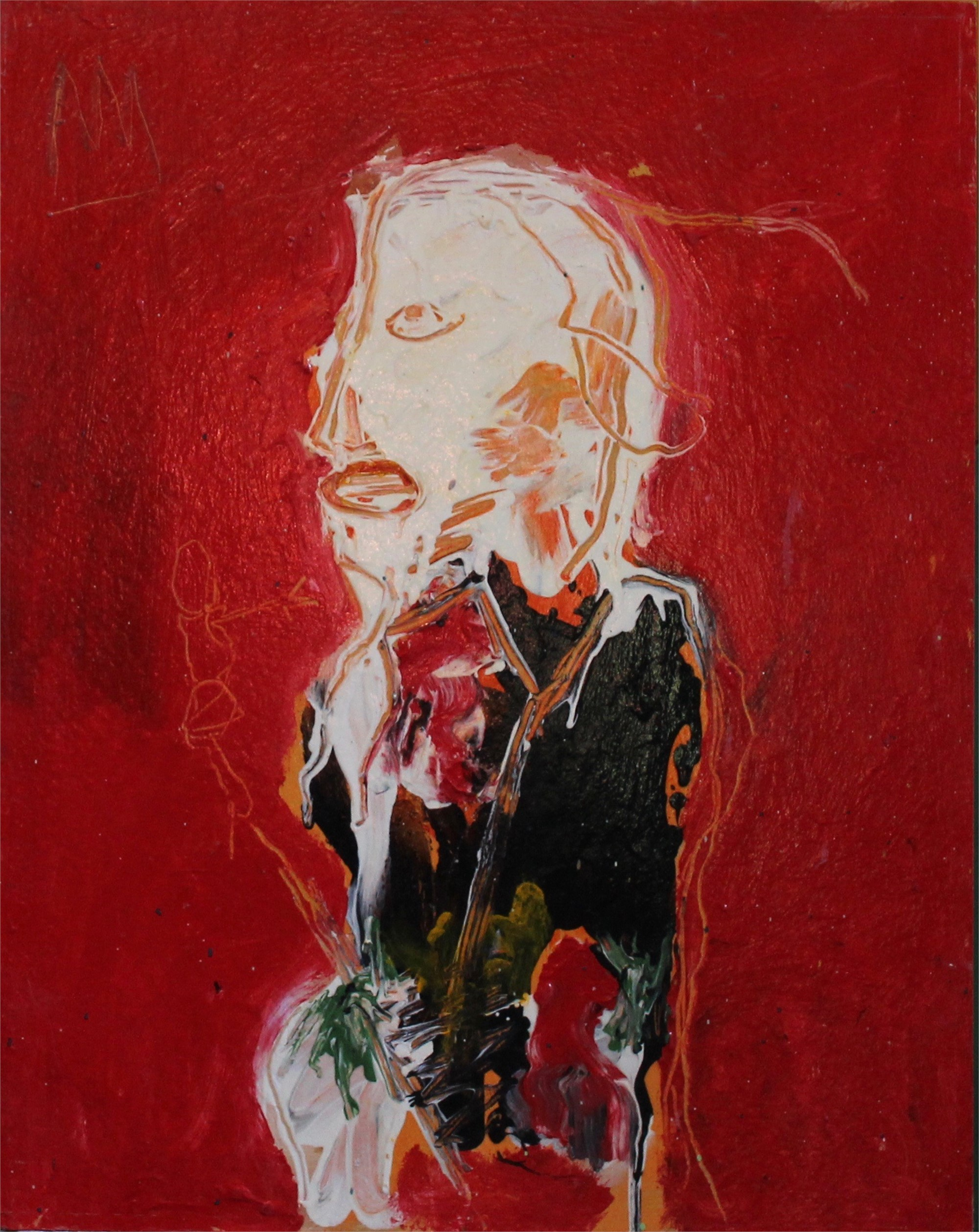 Art Critic with Red Ascot by Michael Snodgrass