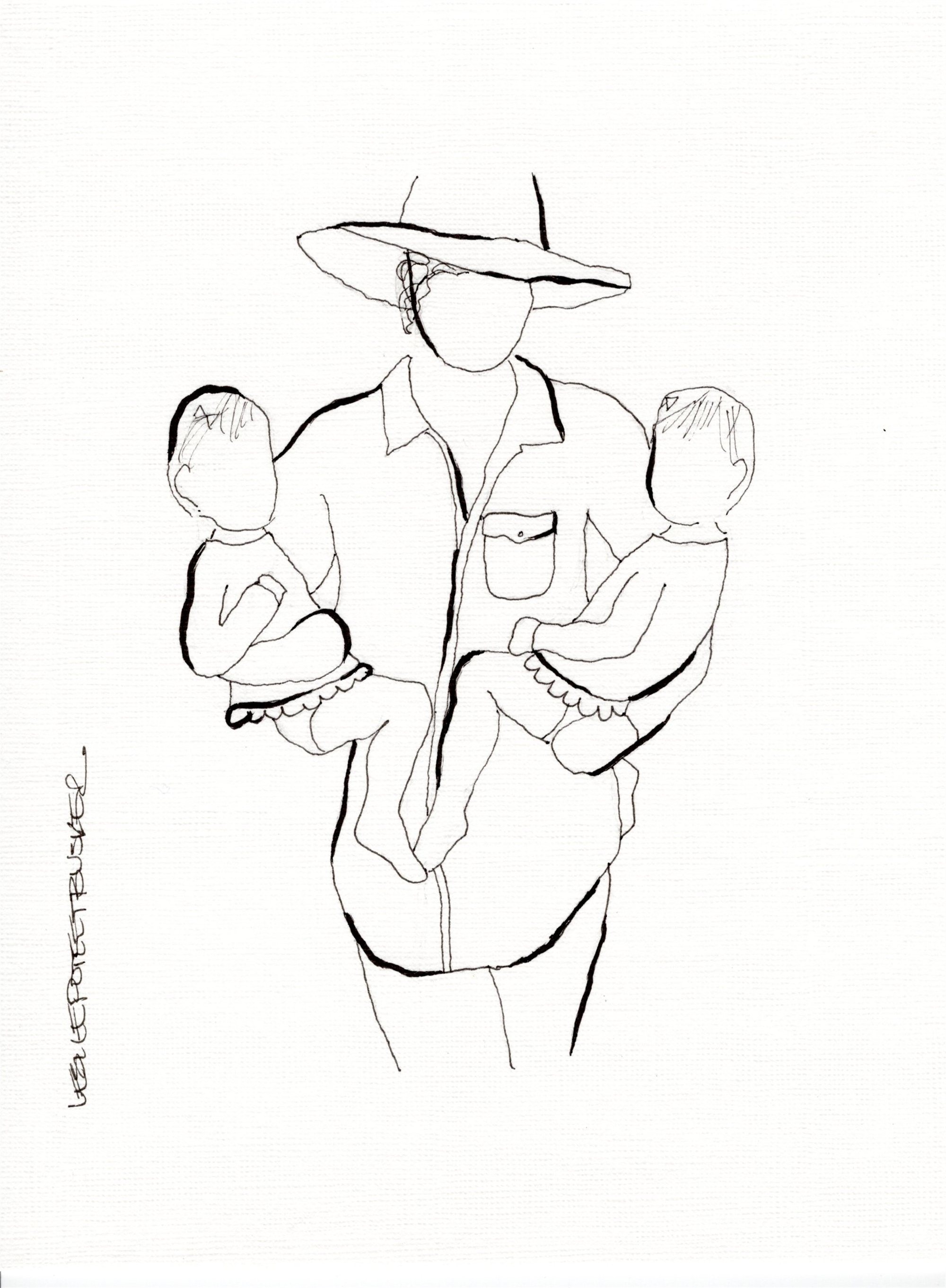 Mother and Child No. 8 by Leslie Poteet Busker