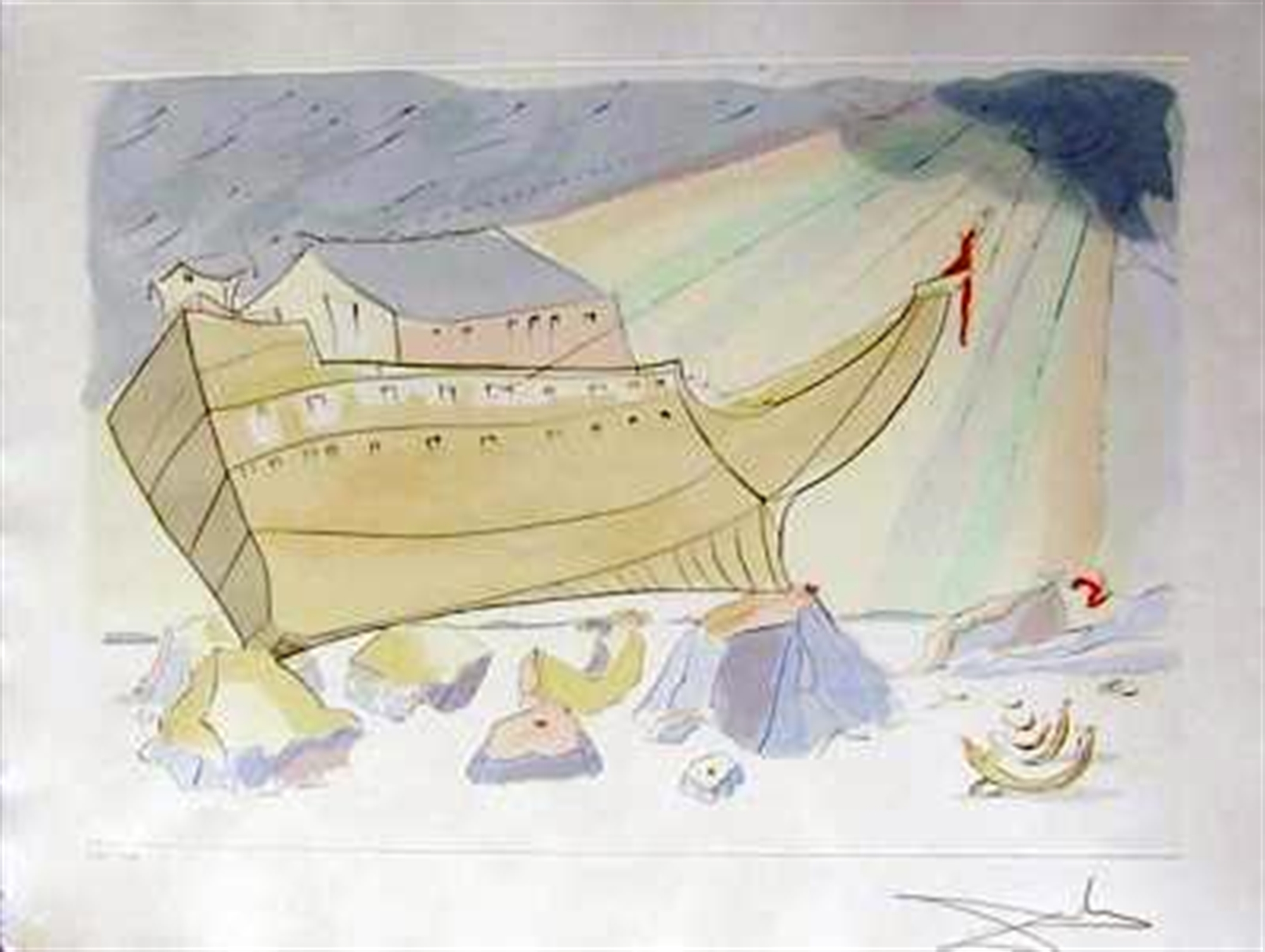 Noah's Ark (from Our Historical Heritage, suite of 11) by Salvador Dali