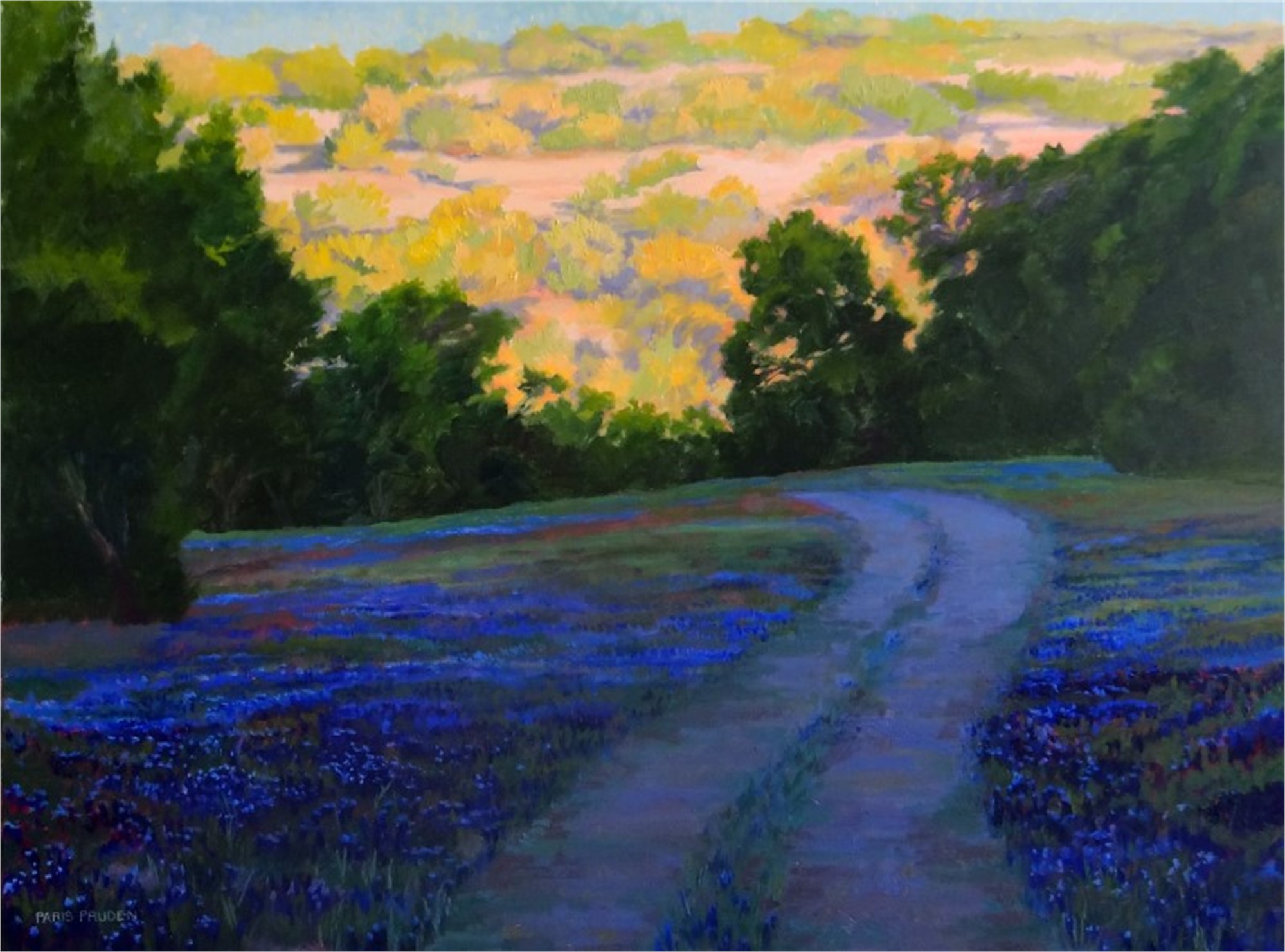 Sunrise Bluebonnets, 2015 by Nancy Paris Pruden