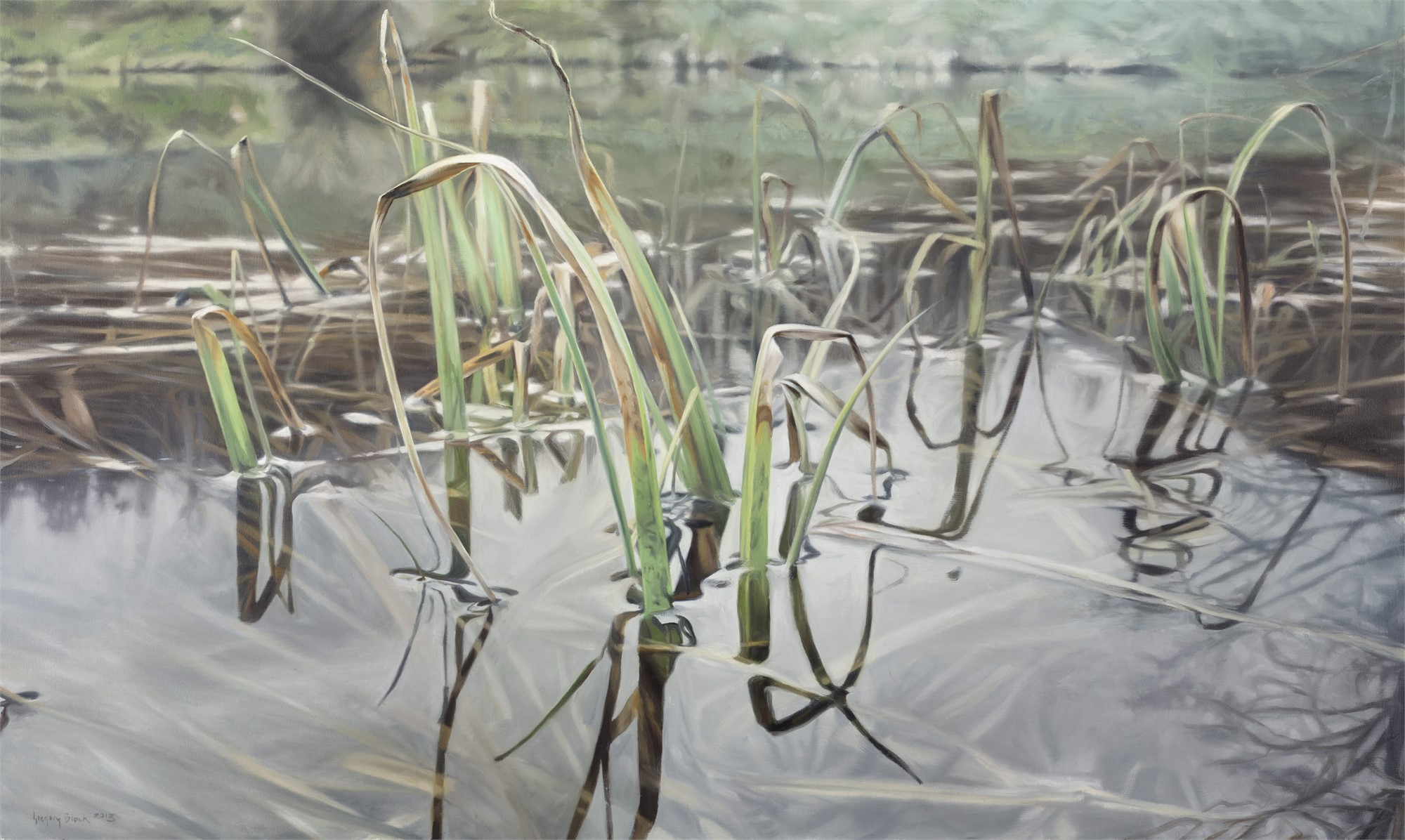 Cattails in Spring by Gregory Block