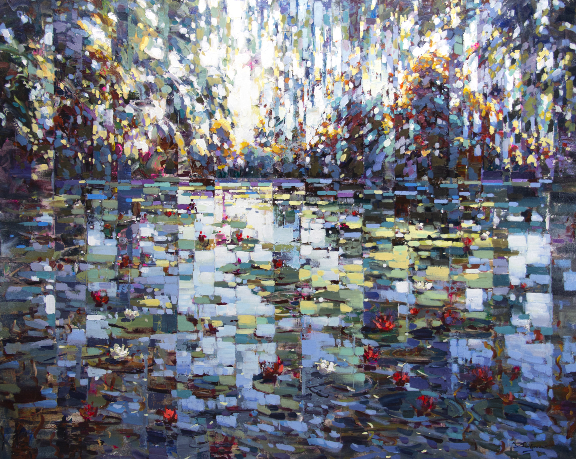Pond with Lilies by Vadim Dolgov