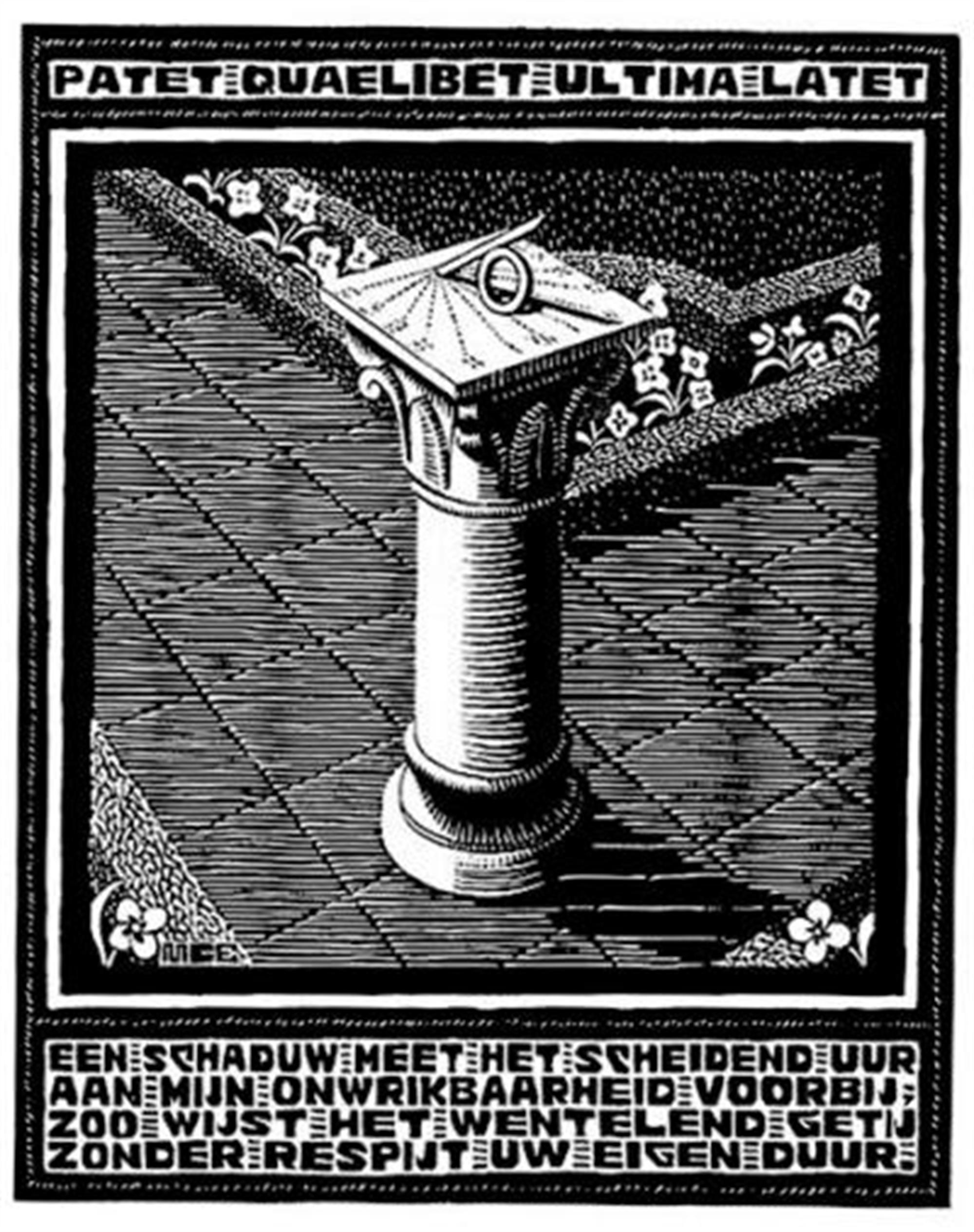 Emblemata - Sundial by M.C. Escher