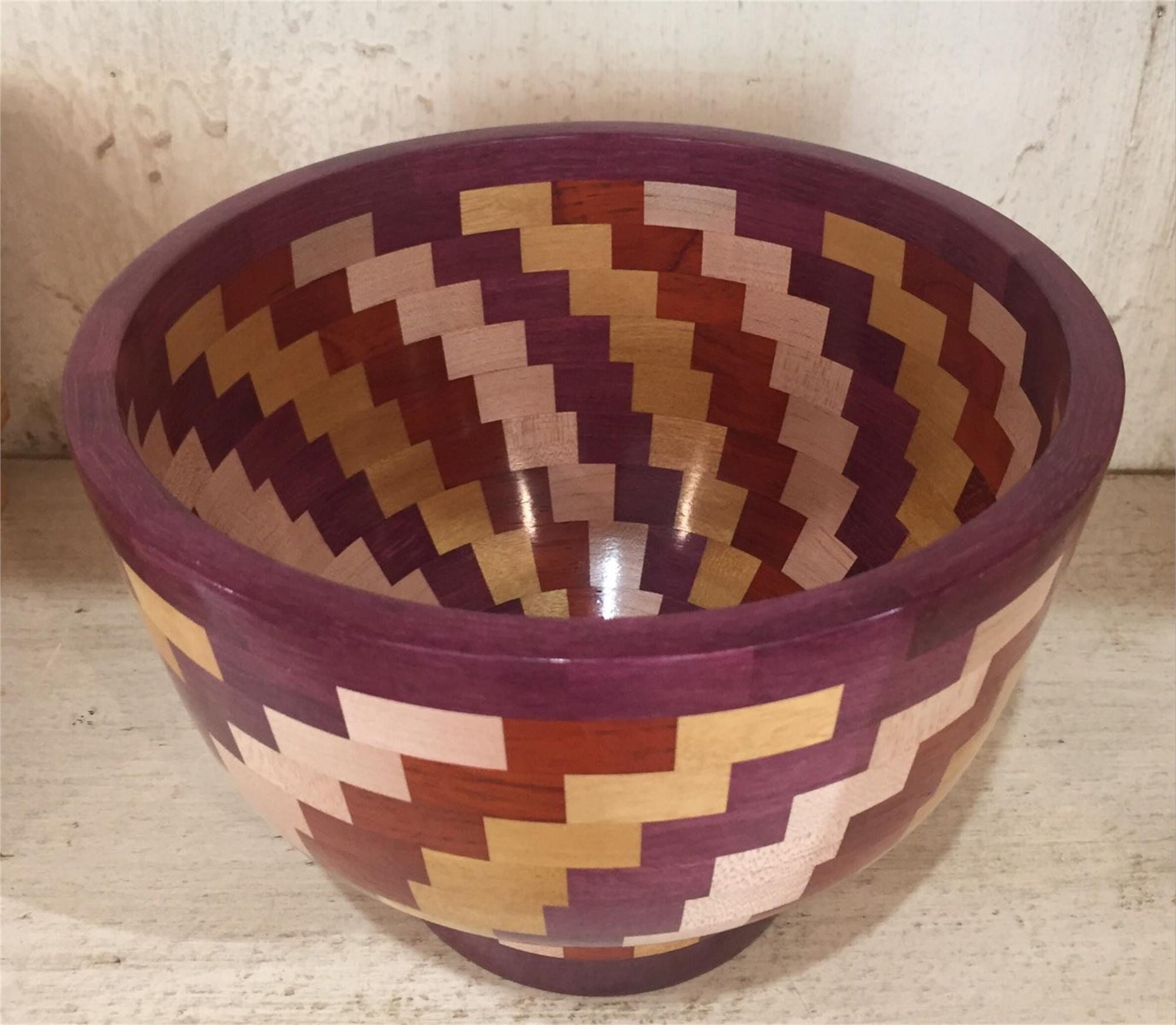 Segmented wood Bowl 5 by Lynn Chastain