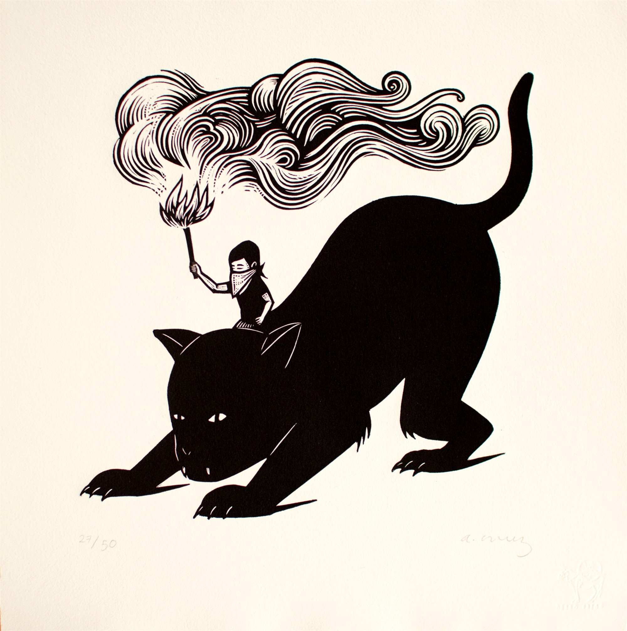 Untitled (Gato) - Framed by Alberto Cruz