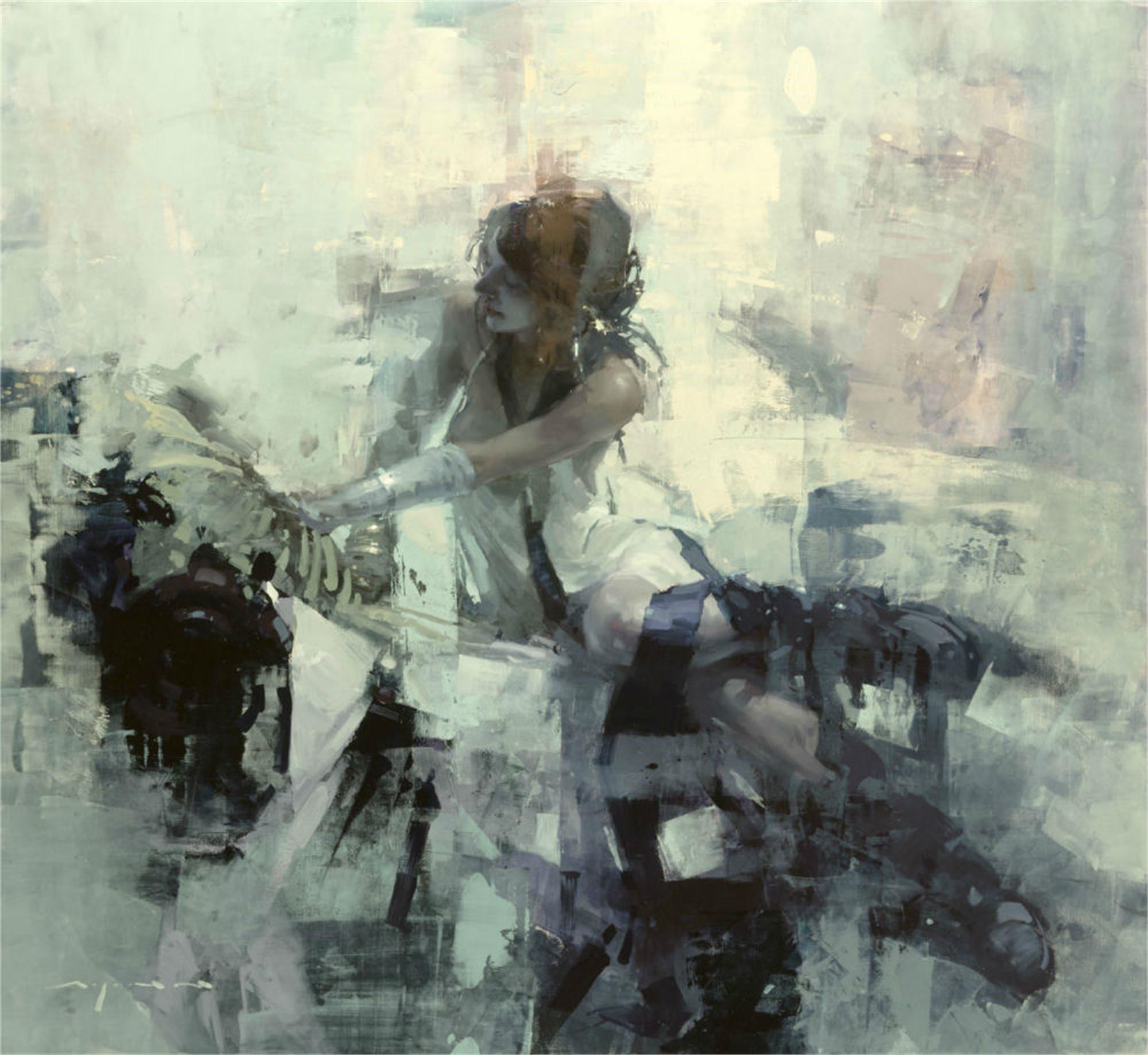 Violet Rosette by Jeremy Mann