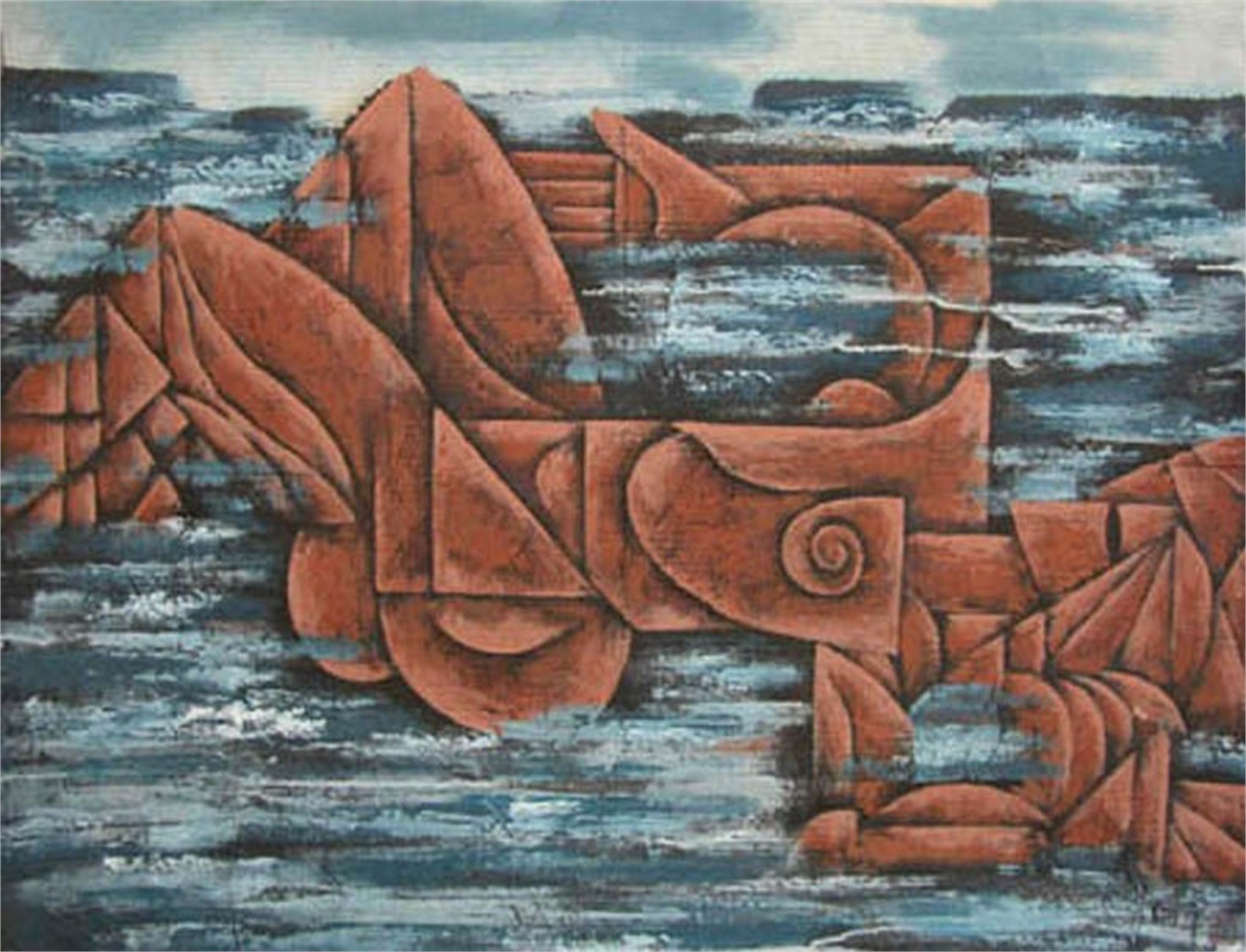 The Swimmer by Contemporary Chinese Art