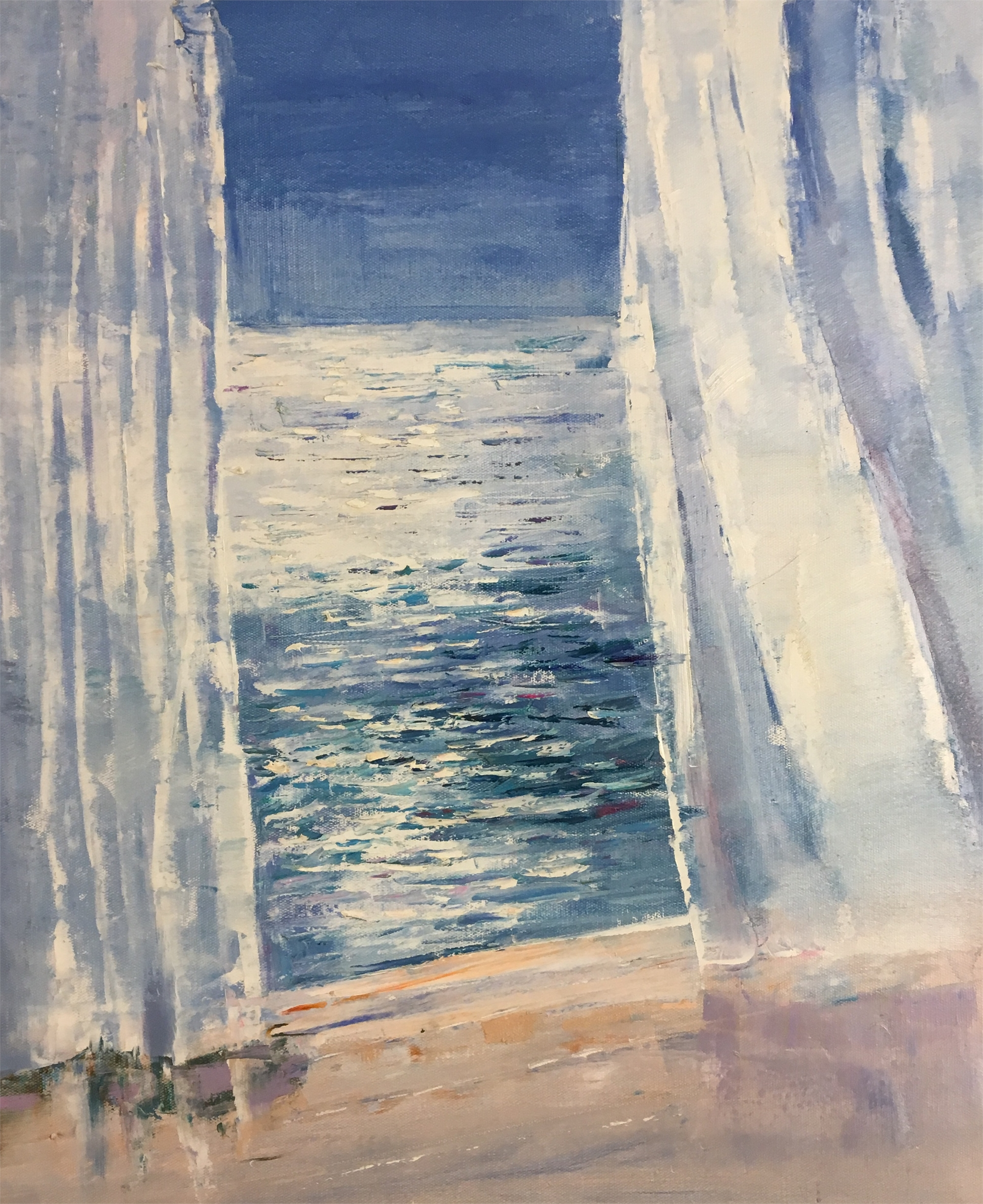 OCEAN VIEW THROUGH WINDOW by VARIOUS WORKS