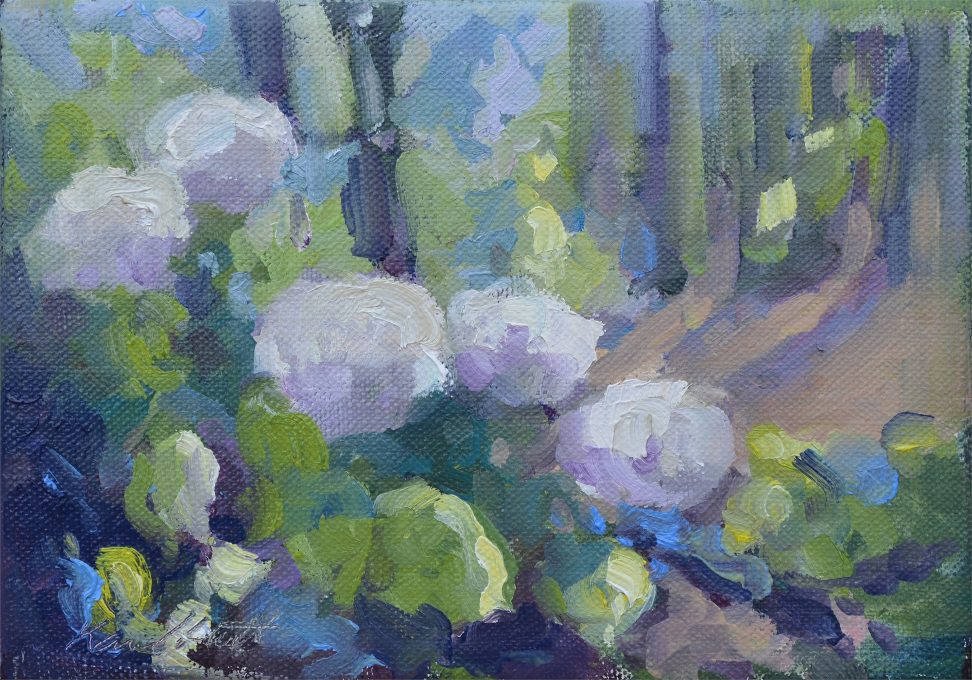 Hydrangeas in Sunlight by Karen Hewitt Hagan