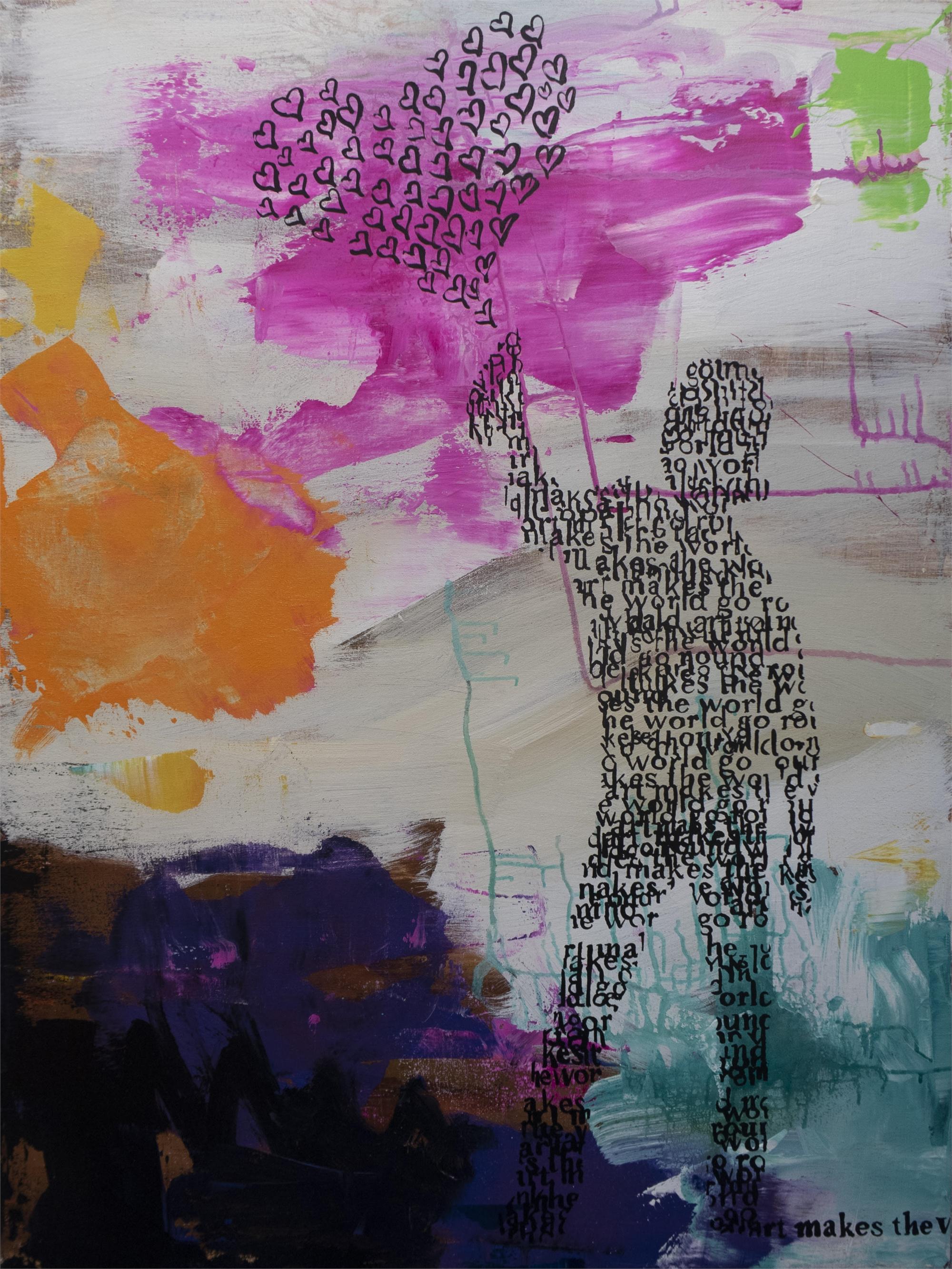 Banksy Girl with Butterflies by Daniel Maltzman