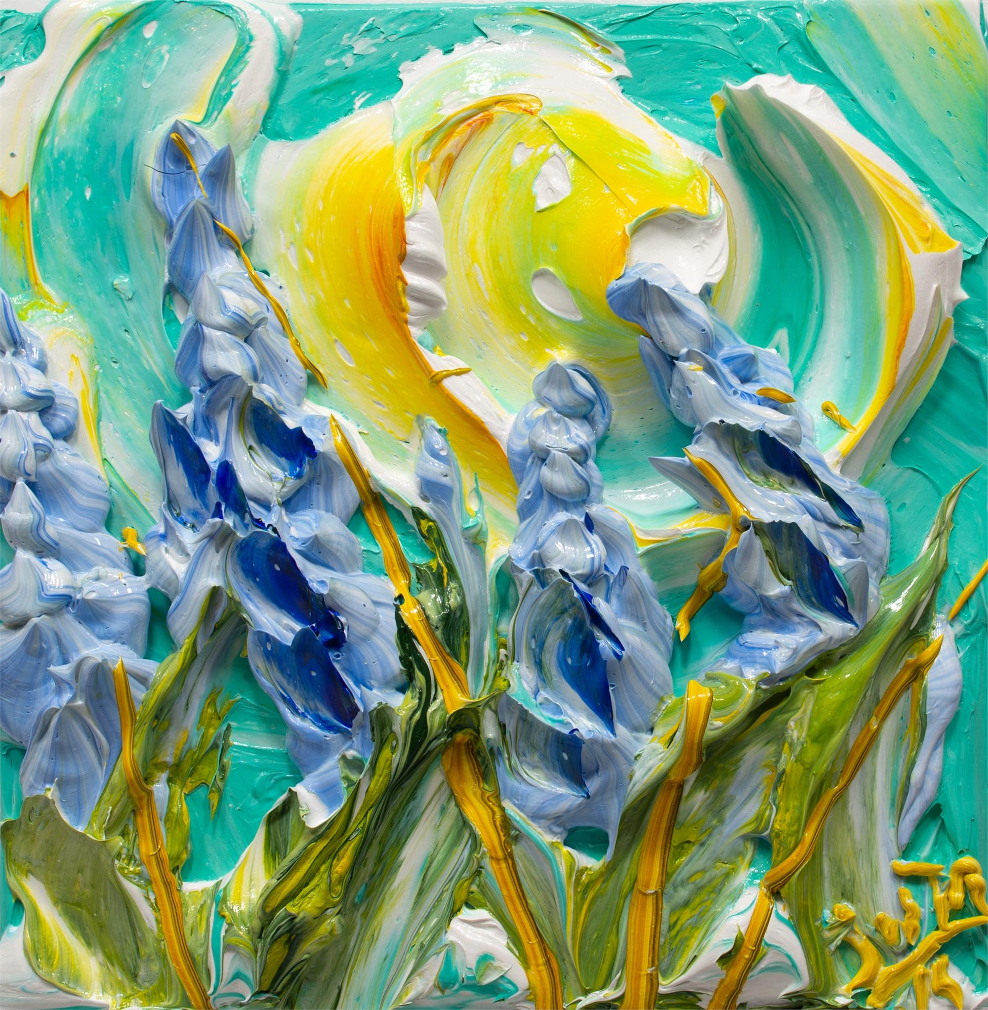 BLUEBONNET FLOWERS-BF-12X12-2019-201 by JUSTIN GAFFREY