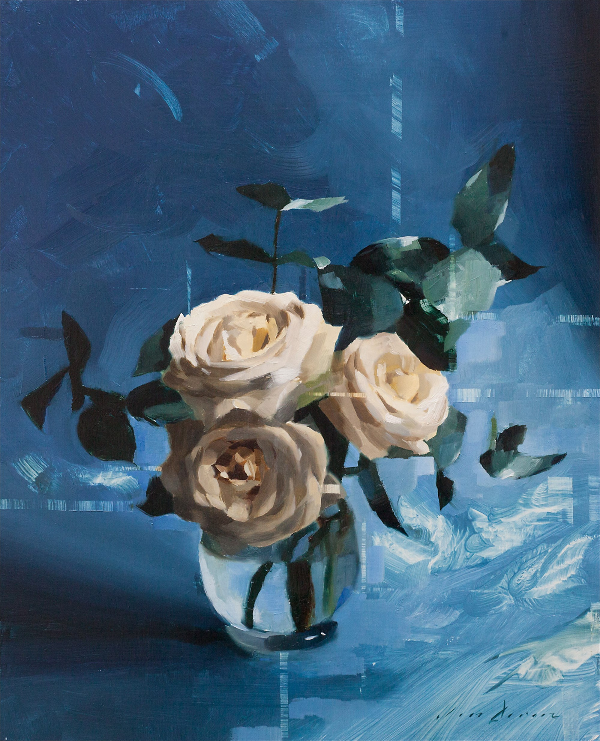 White Roses and Blue by Jon Doran