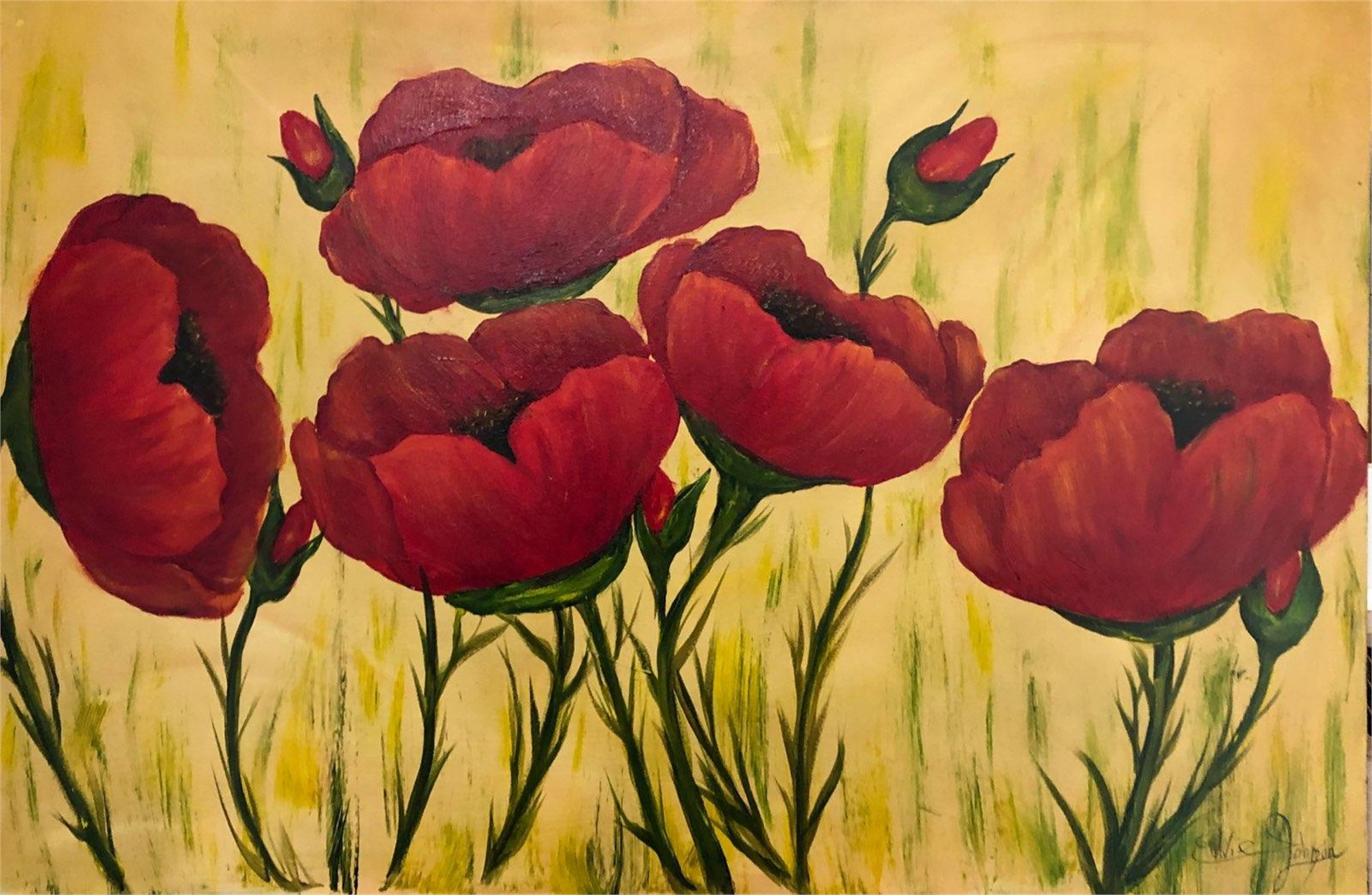 Red Poppies by Edwin Johnson (McMinnville, OR)