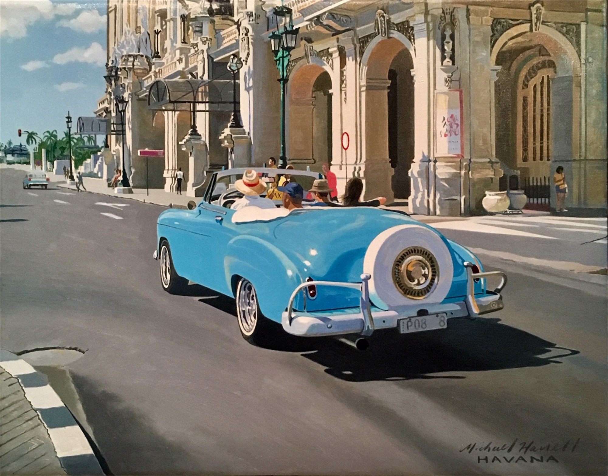 Sunday Afternoon Drive, Havana | Palm Avenue Fine Art