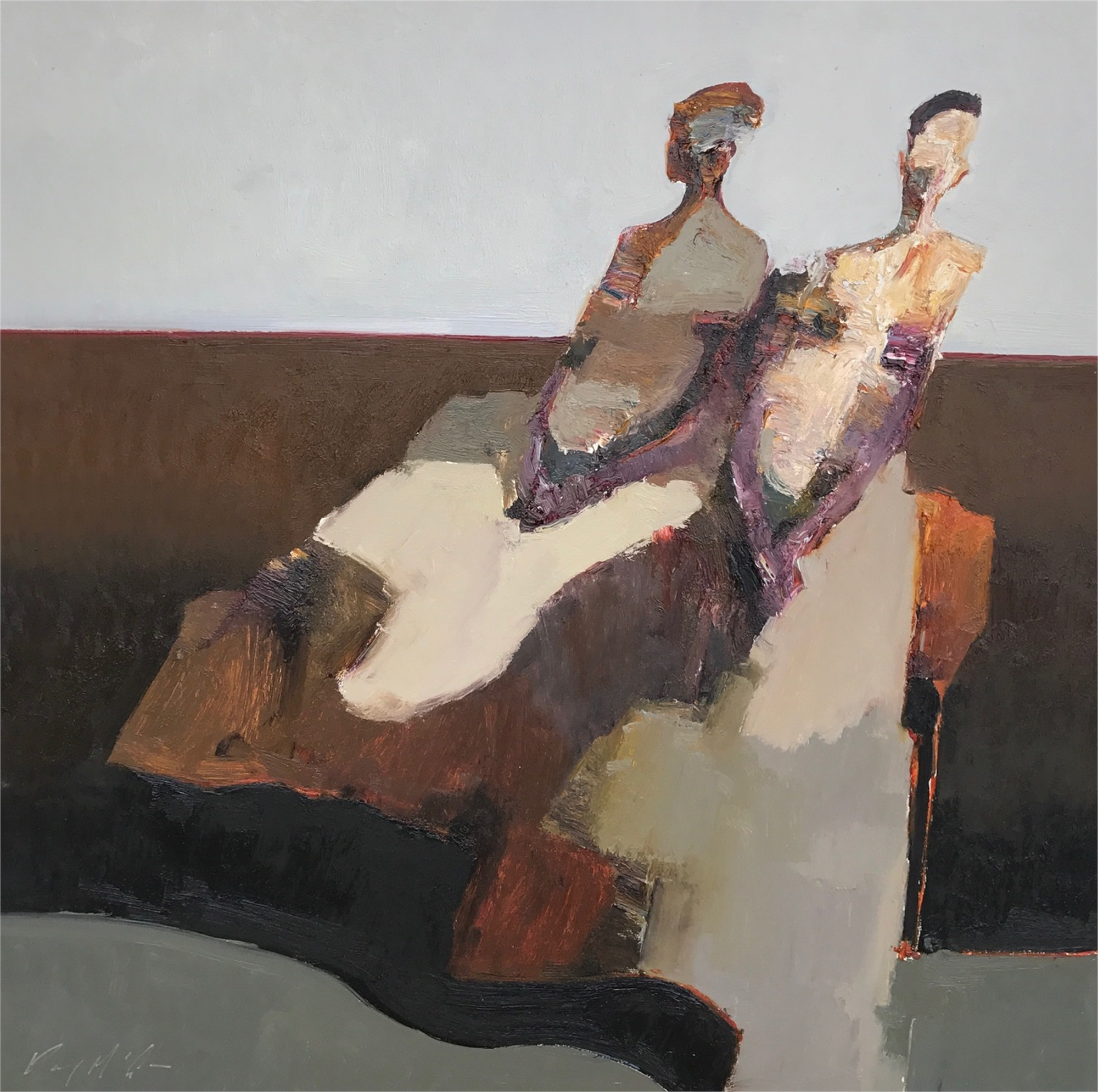 Seated Figures by Danny McCaw