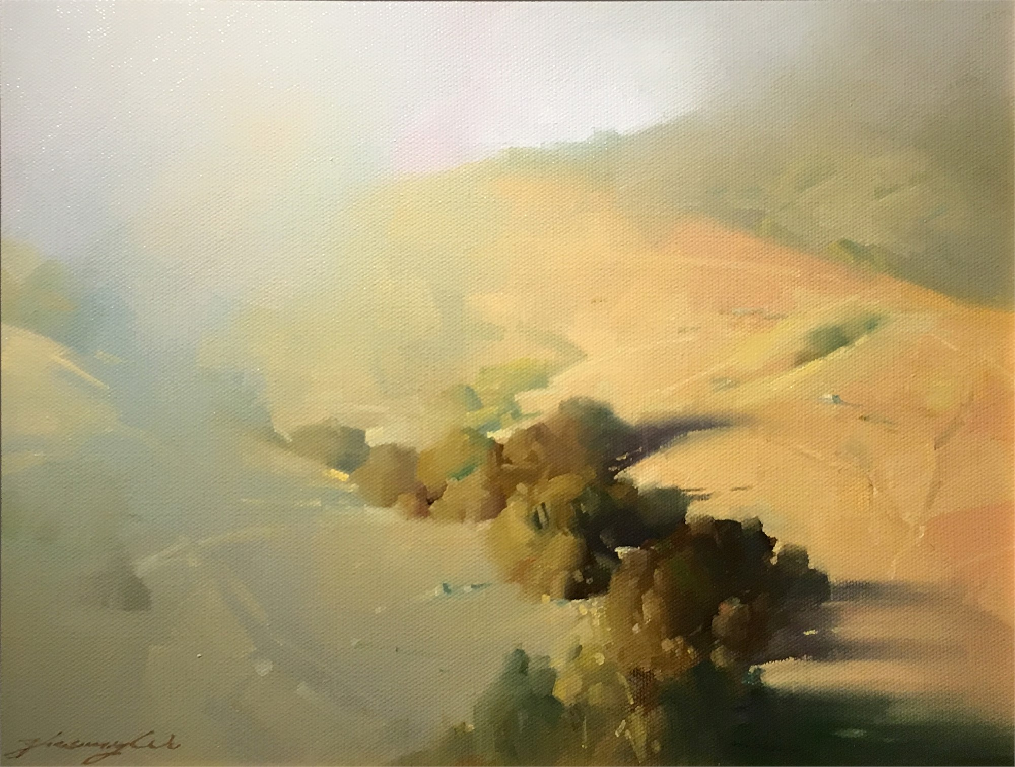 Canyon in Fog by Zhaoming Wu