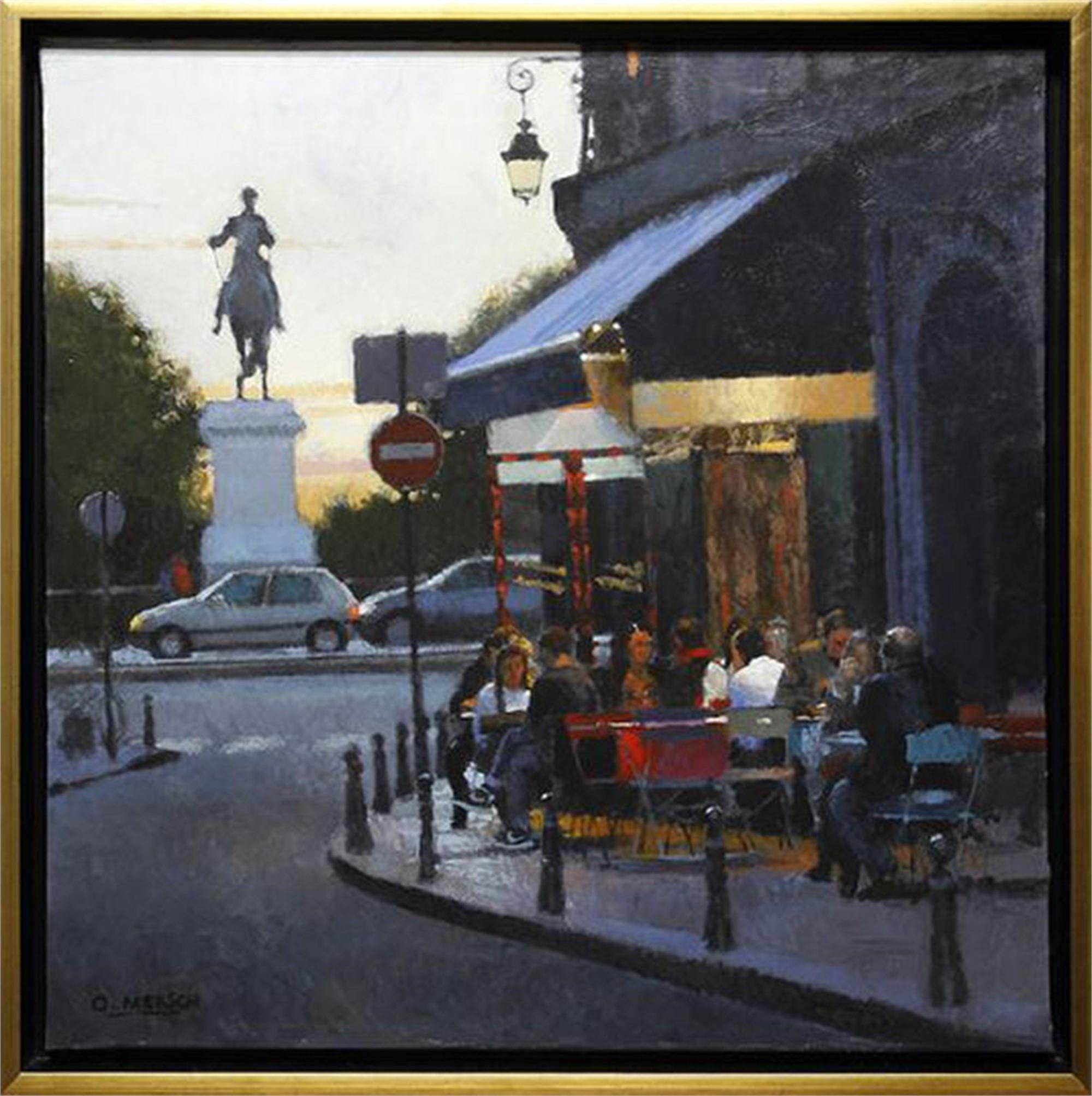 Cafe in Paris I by Oscar Mersch