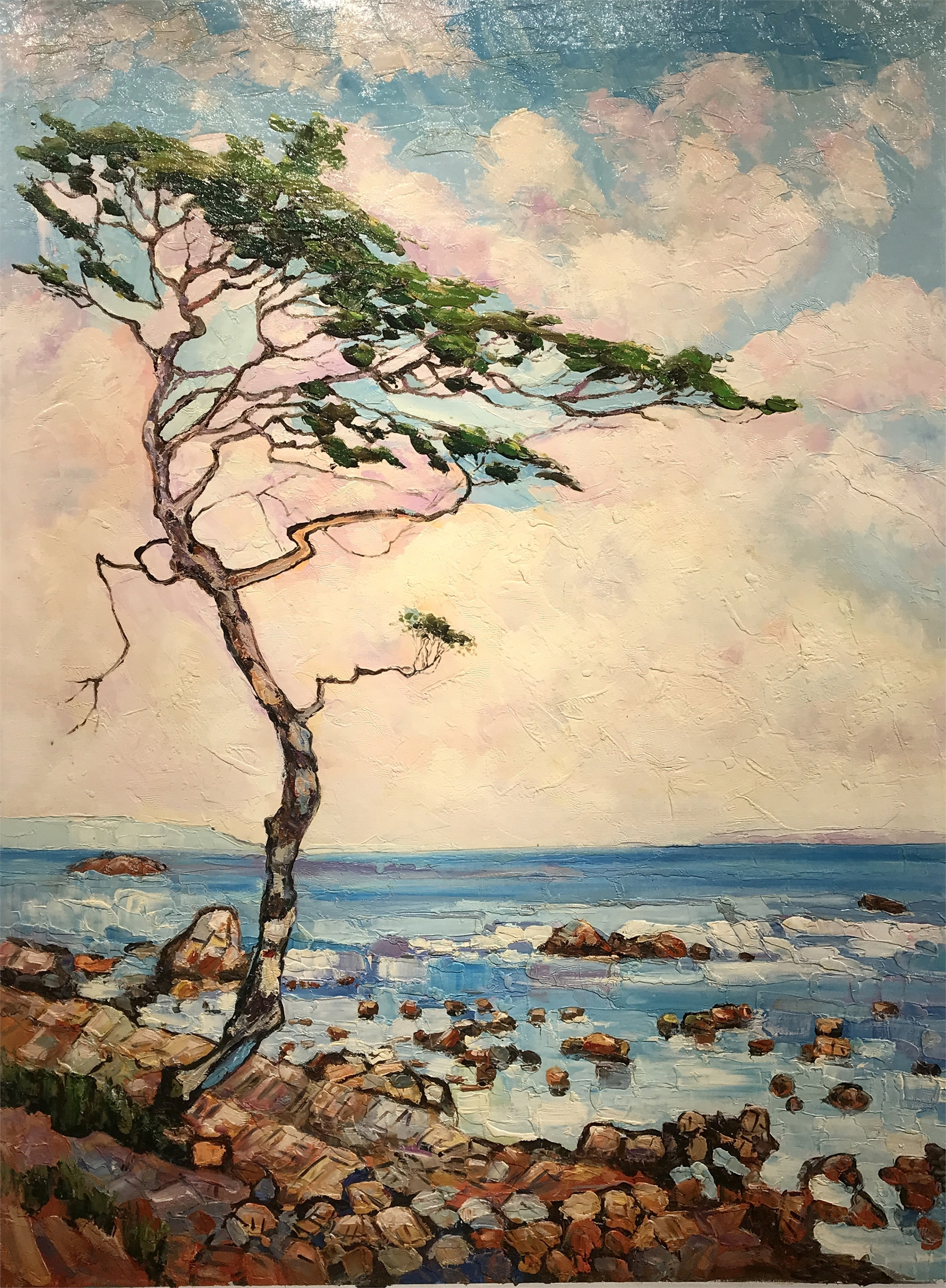 LONE TREE ON ROCKY SHORE by VARIOUS WORKS