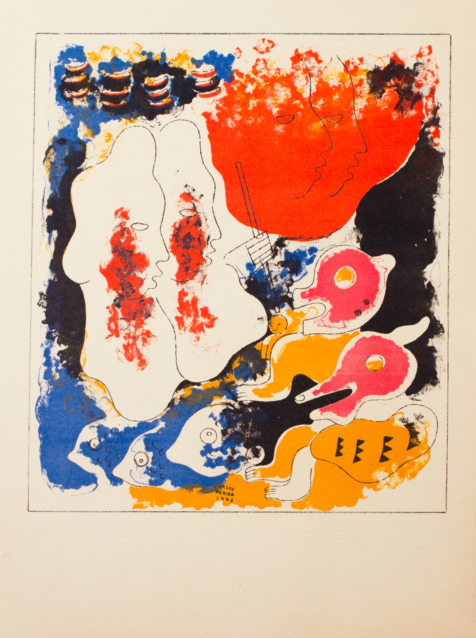 Estampas de Popol Vuh (Plate X) by Carlos Mérida (1891 - 1985)