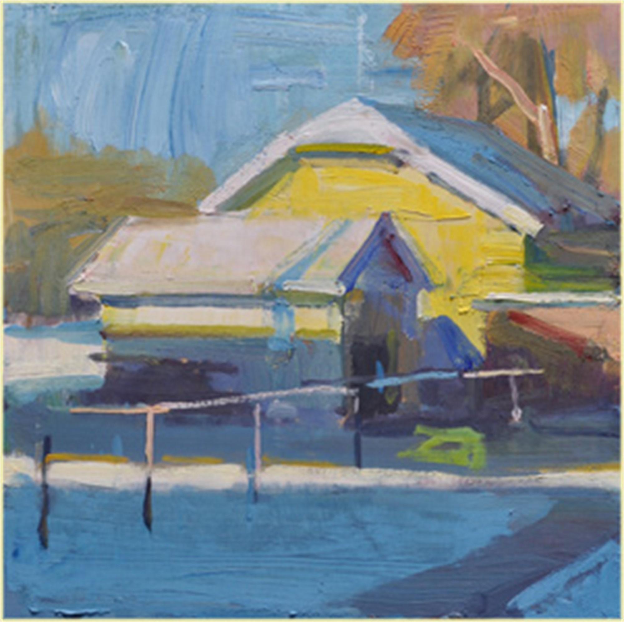 Yellow Farm House by Kevin Weckbach