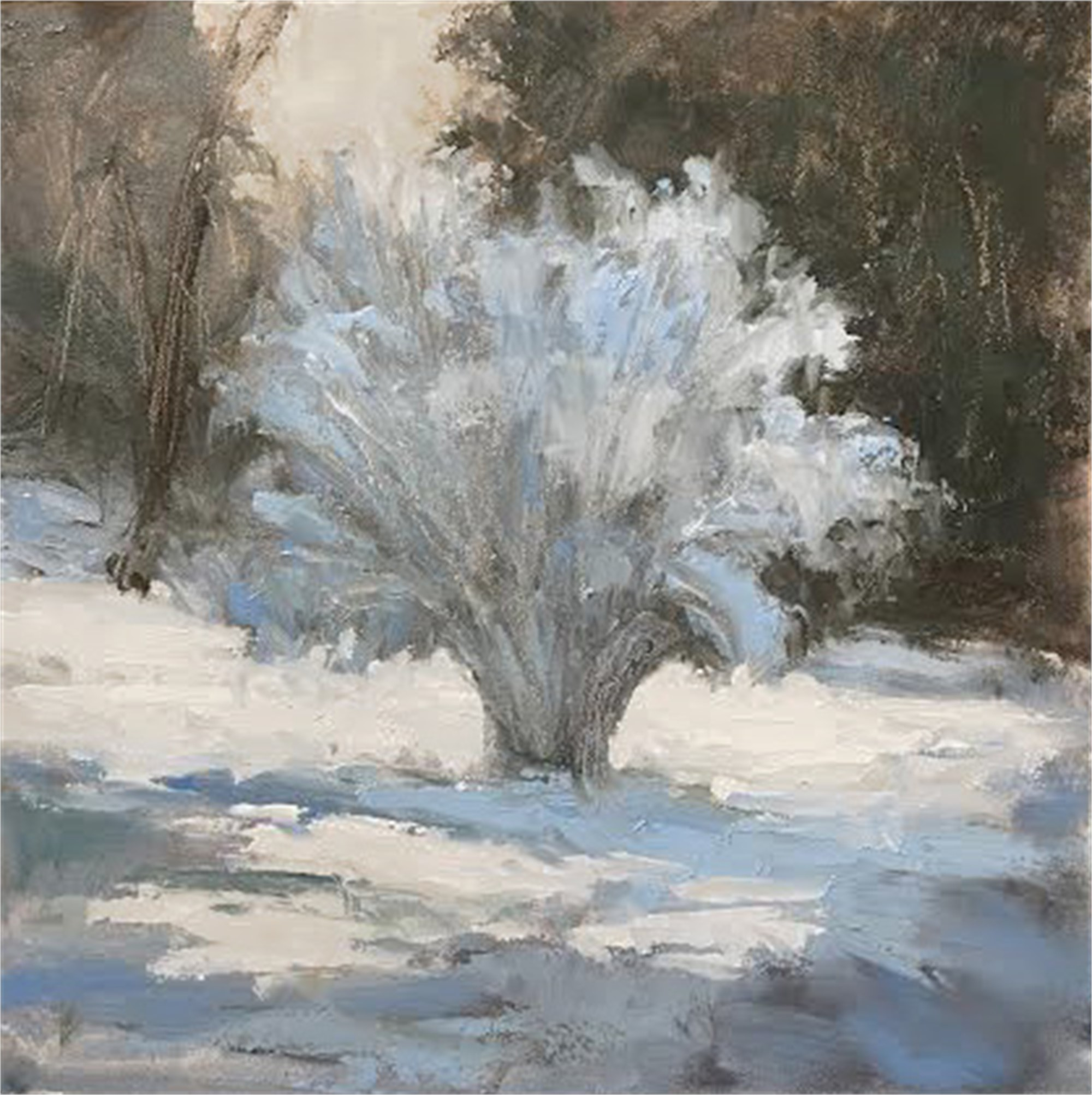 Snowy Bush - Commission by Jane Hunt