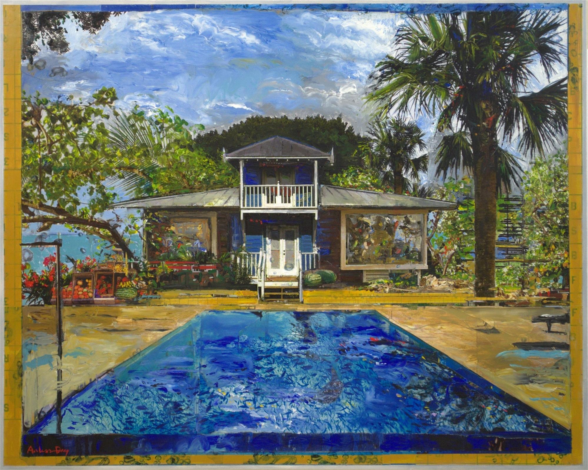 Cottage Pool by Arless Day