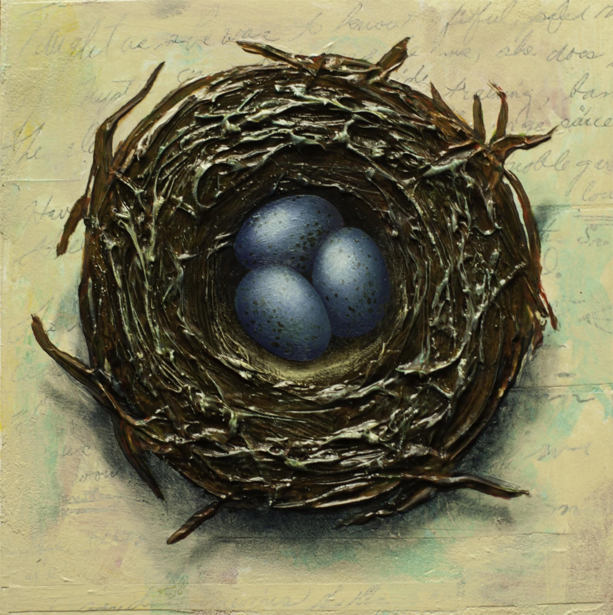 Nest with Three Eggs by Thane Gorek