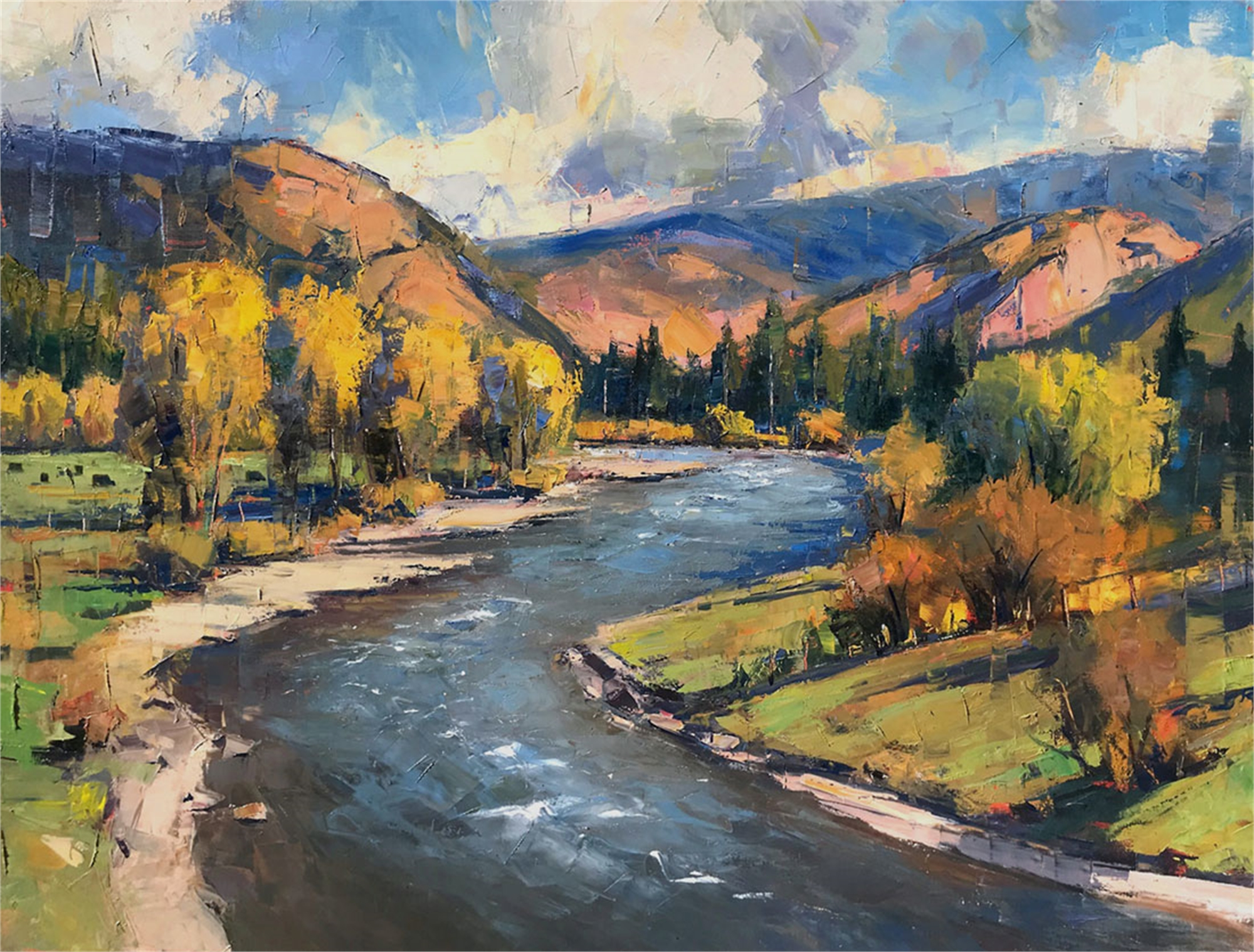 Eagle River Autumn by Perry Brown