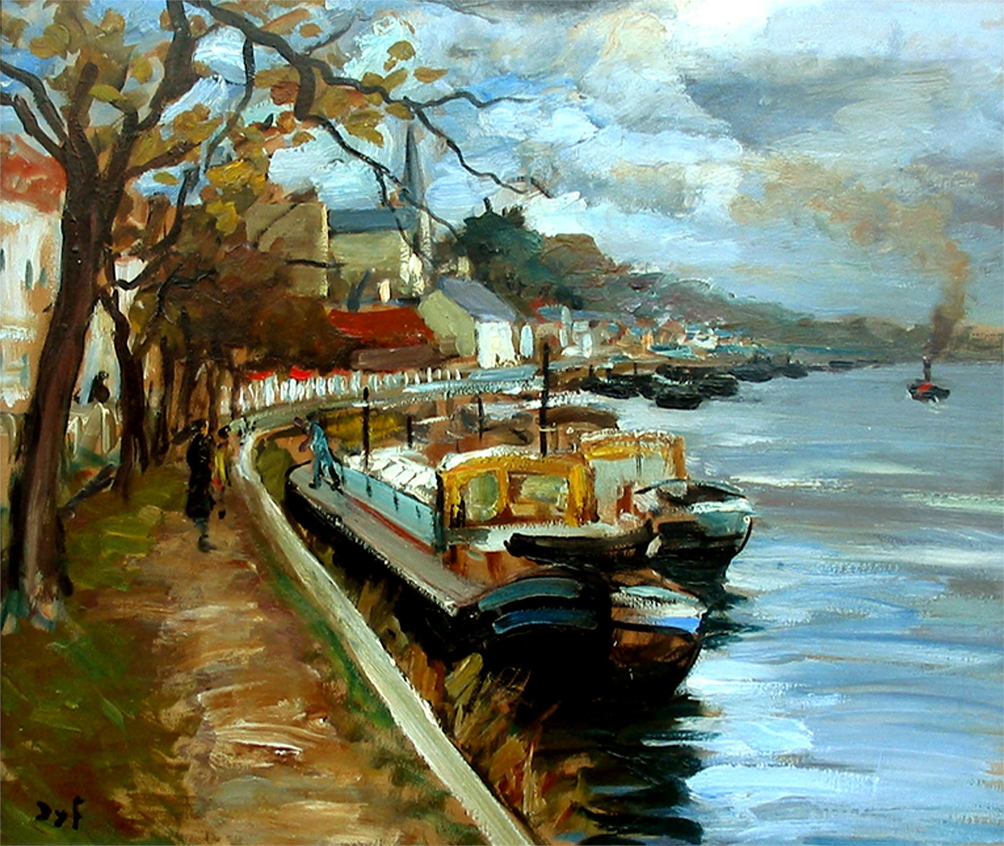 BOATS ON THE SEINE by DYF