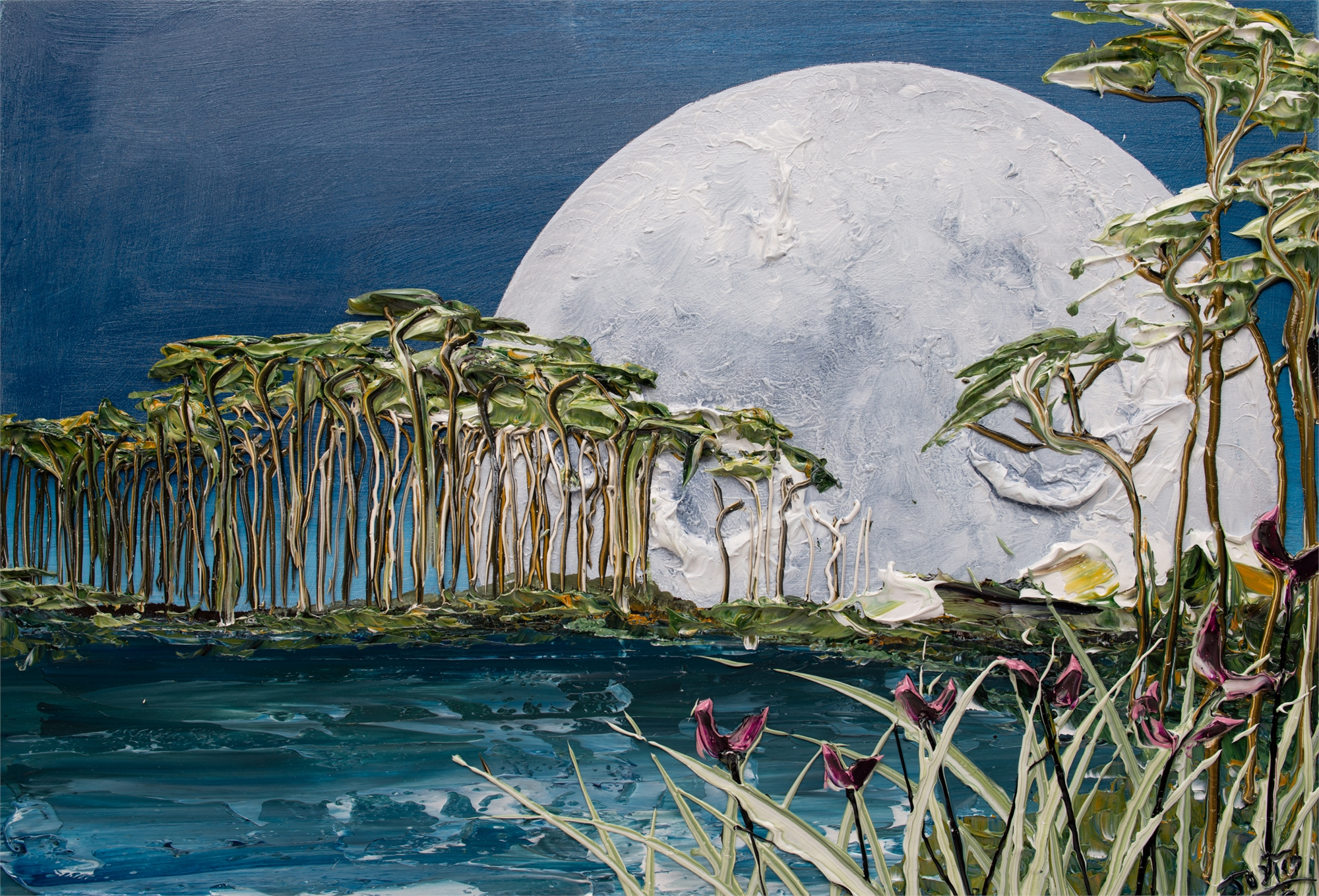 (SOLD) MOONSCAPE MS-35x24-2019-258 by JUSTIN GAFFREY