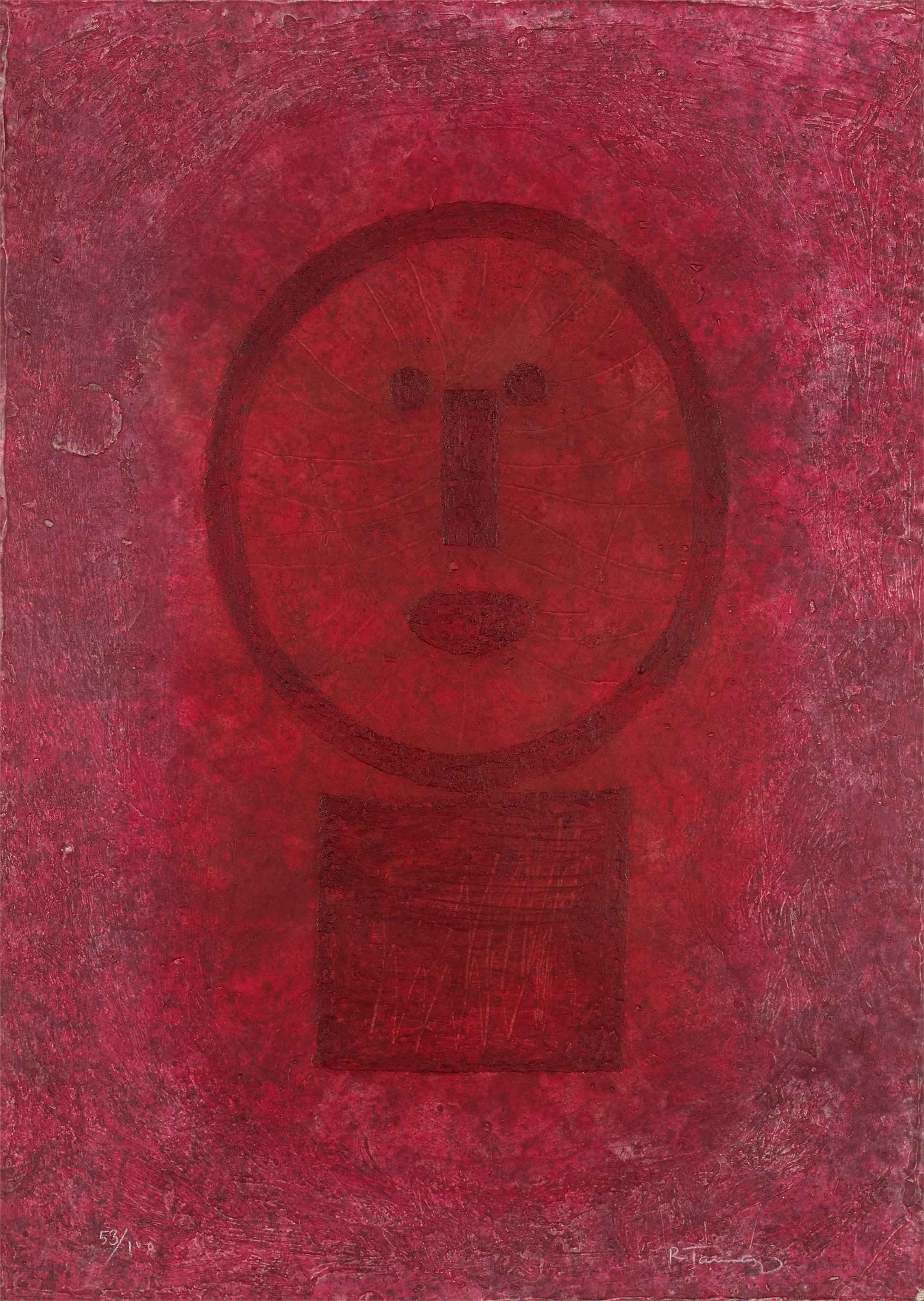 Cara en Rojo by Rufino Tamayo (1899 - 1991)