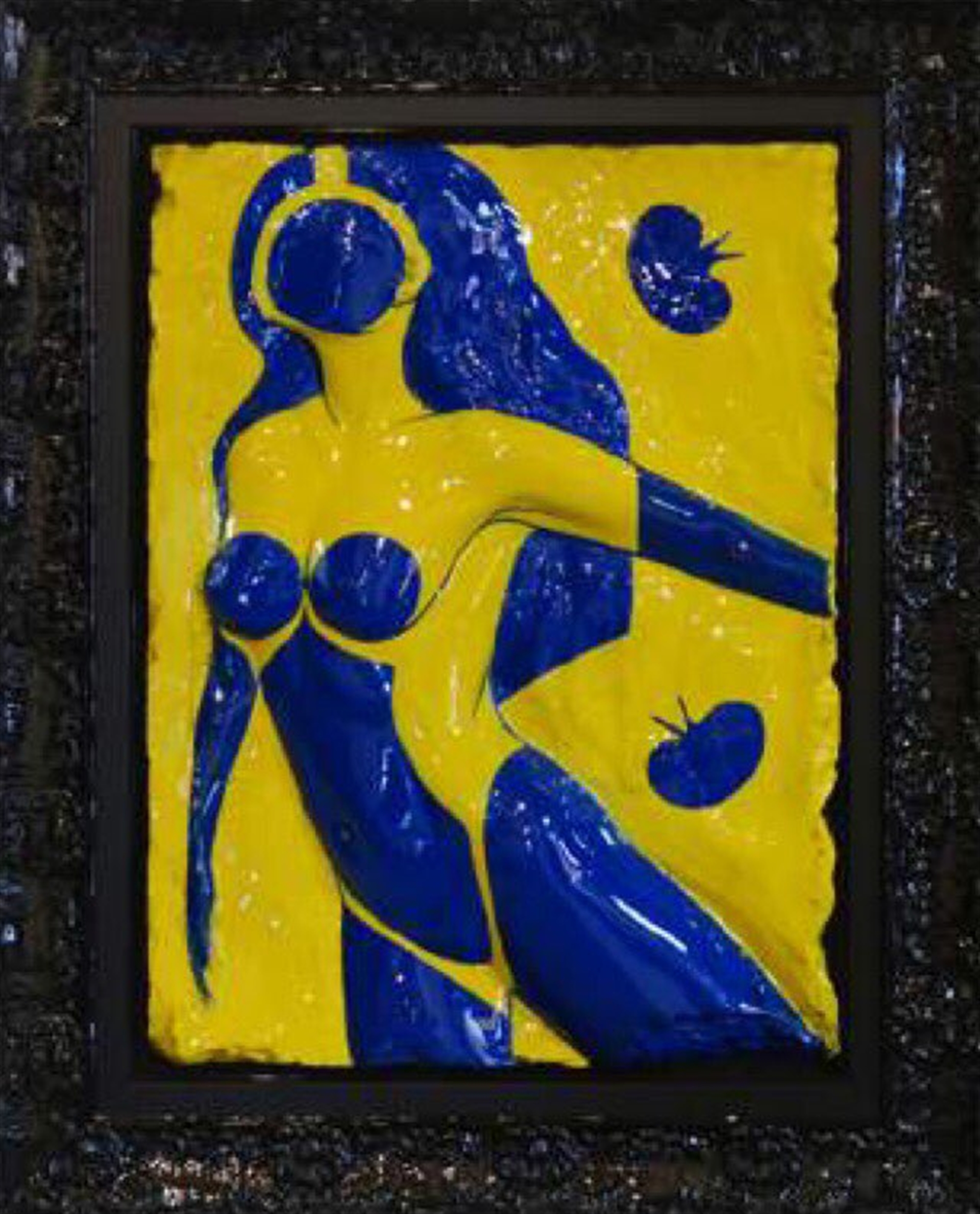 Matisse Spirit Blue Nude with Frogs by Bill Mack