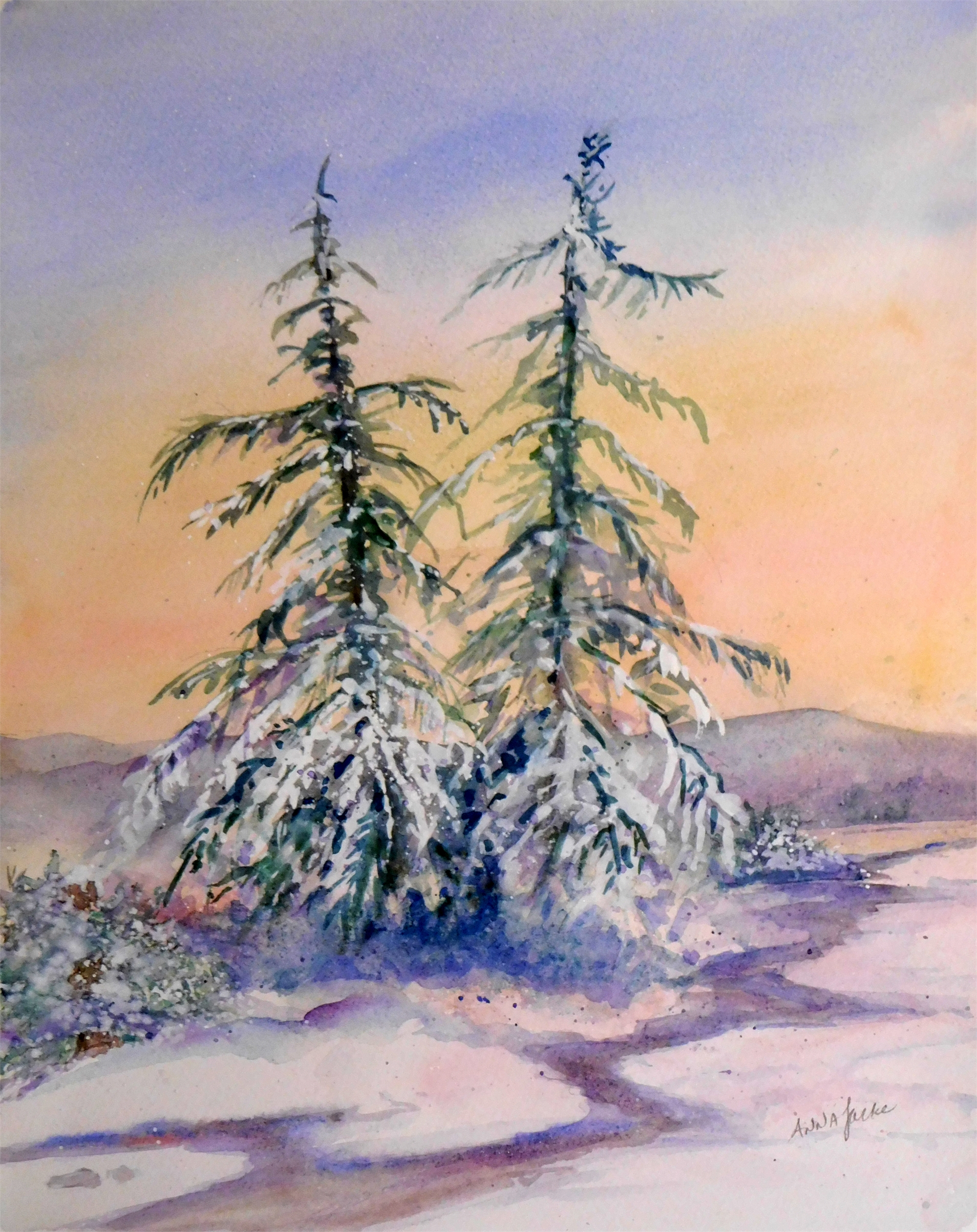 Frosted Dawn by Anna Jacke (McMinnville, OR)