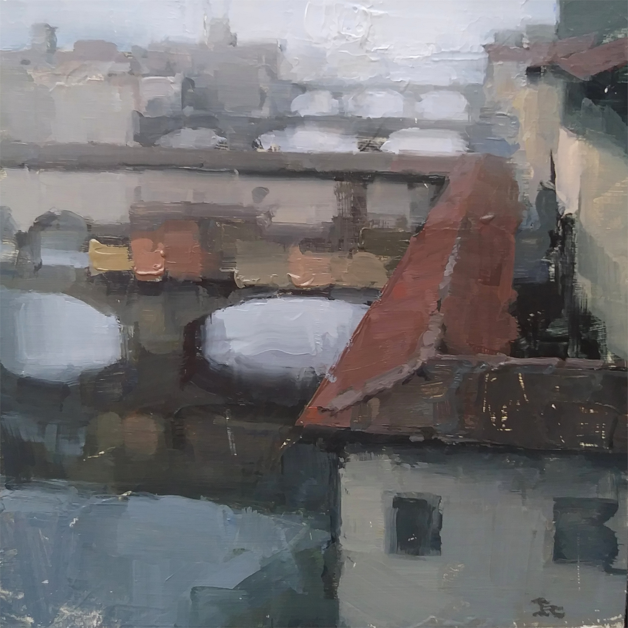 Over the Canal, Florence by James Kroner