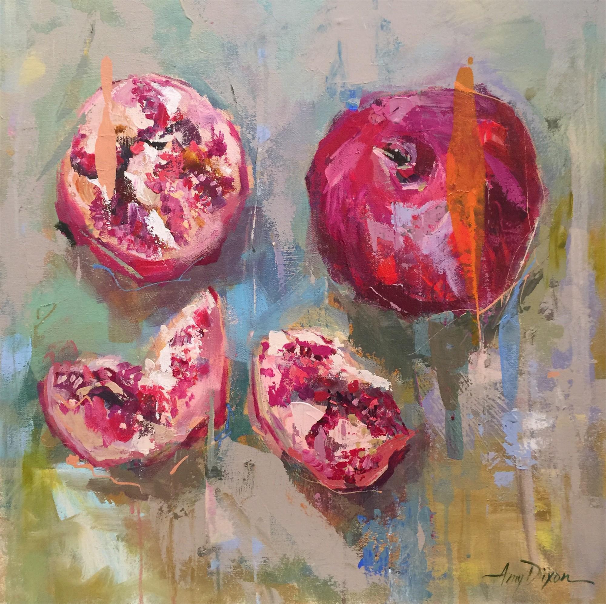 Pomegranates Alla Prima by Amy Dixon