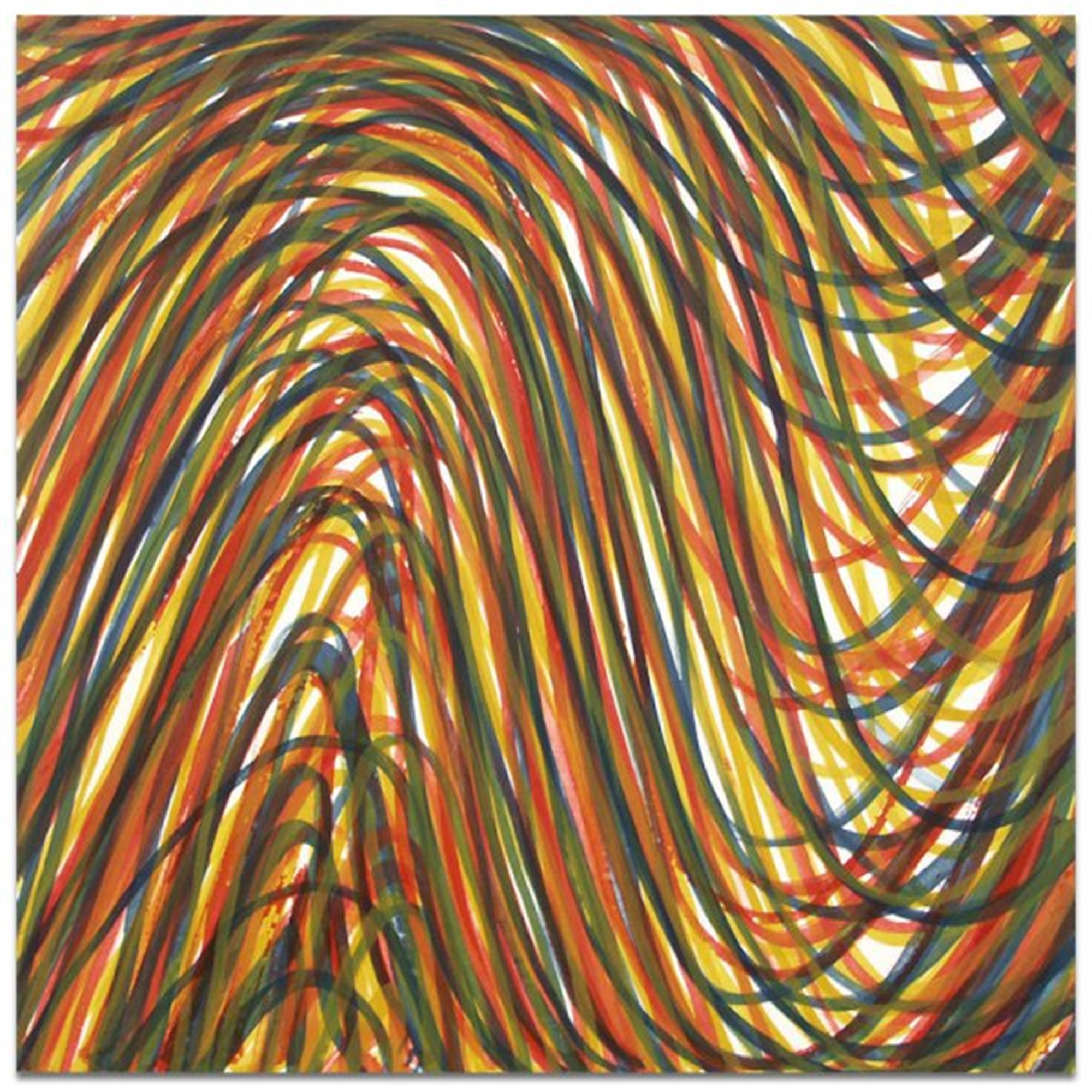 Wavy Brushstrokes Superimposed by Sol LeWitt