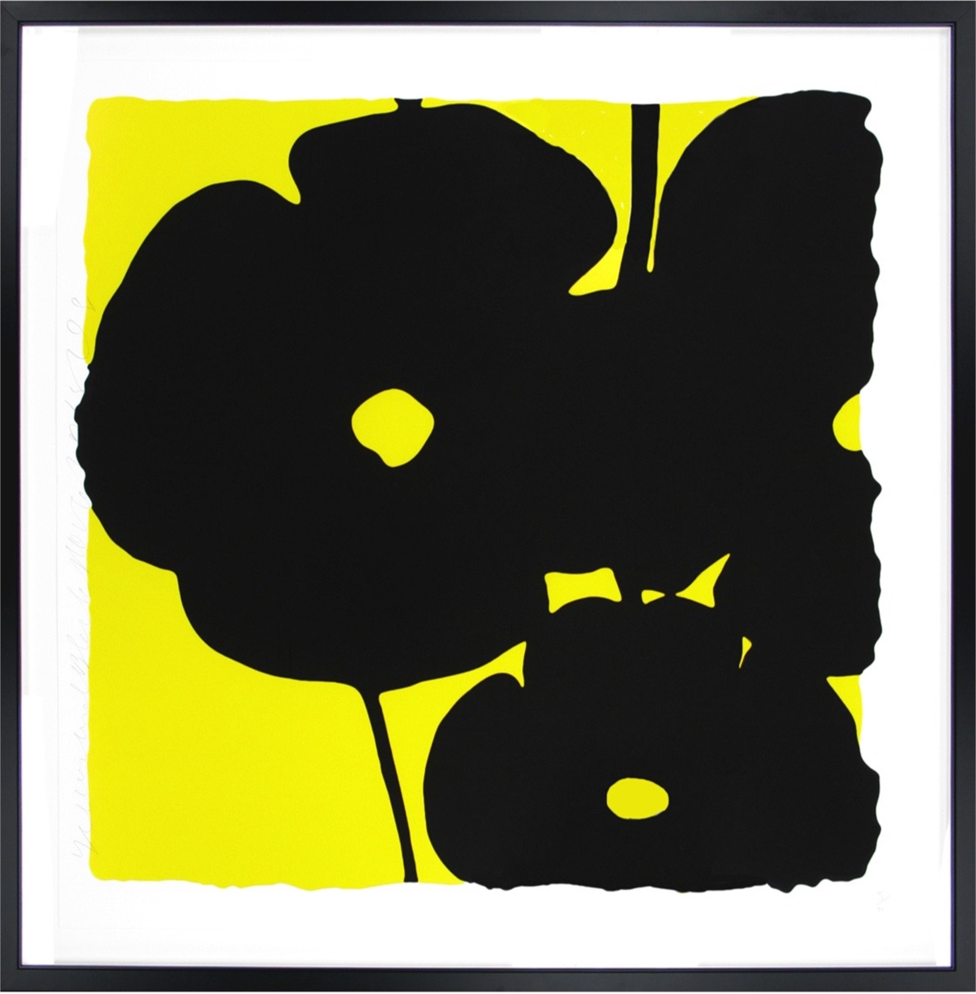 Yellow and black flowers by donald sultan artcloud yellow and black flowers mightylinksfo